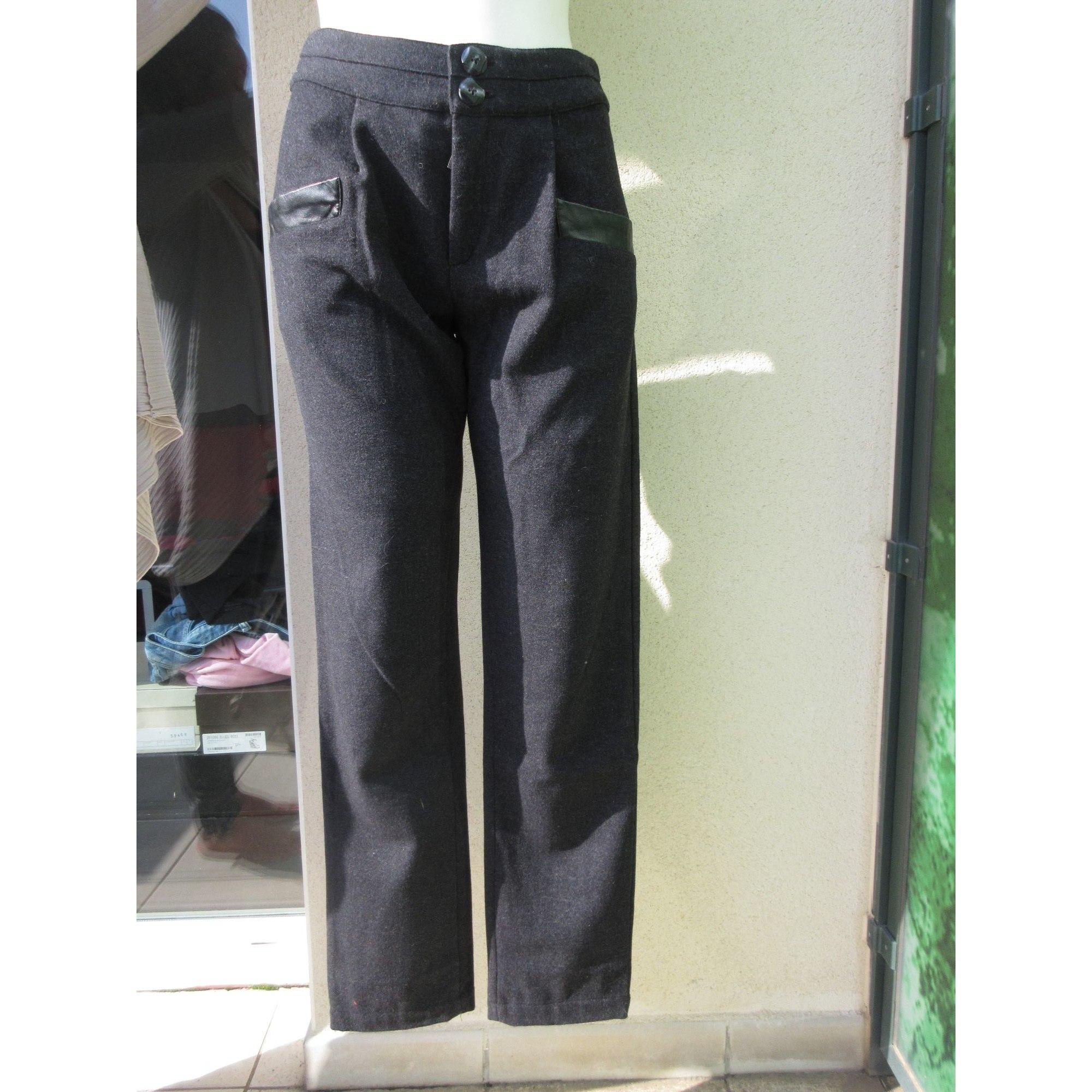Pantalon droit KRISTINA POPOVITCH Gris, anthracite