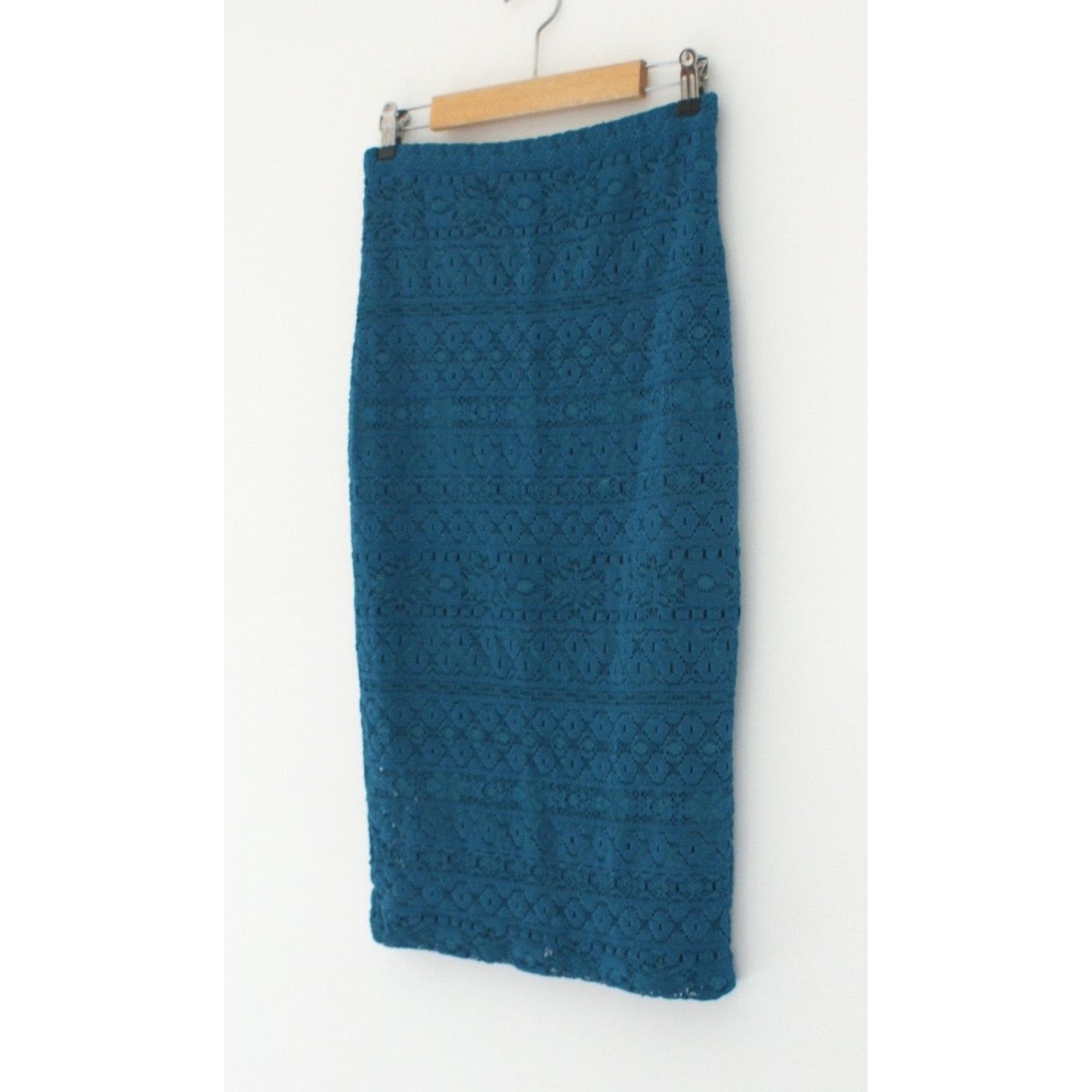 Jupe mi-longue BEL AIR Bleu, bleu marine, bleu turquoise