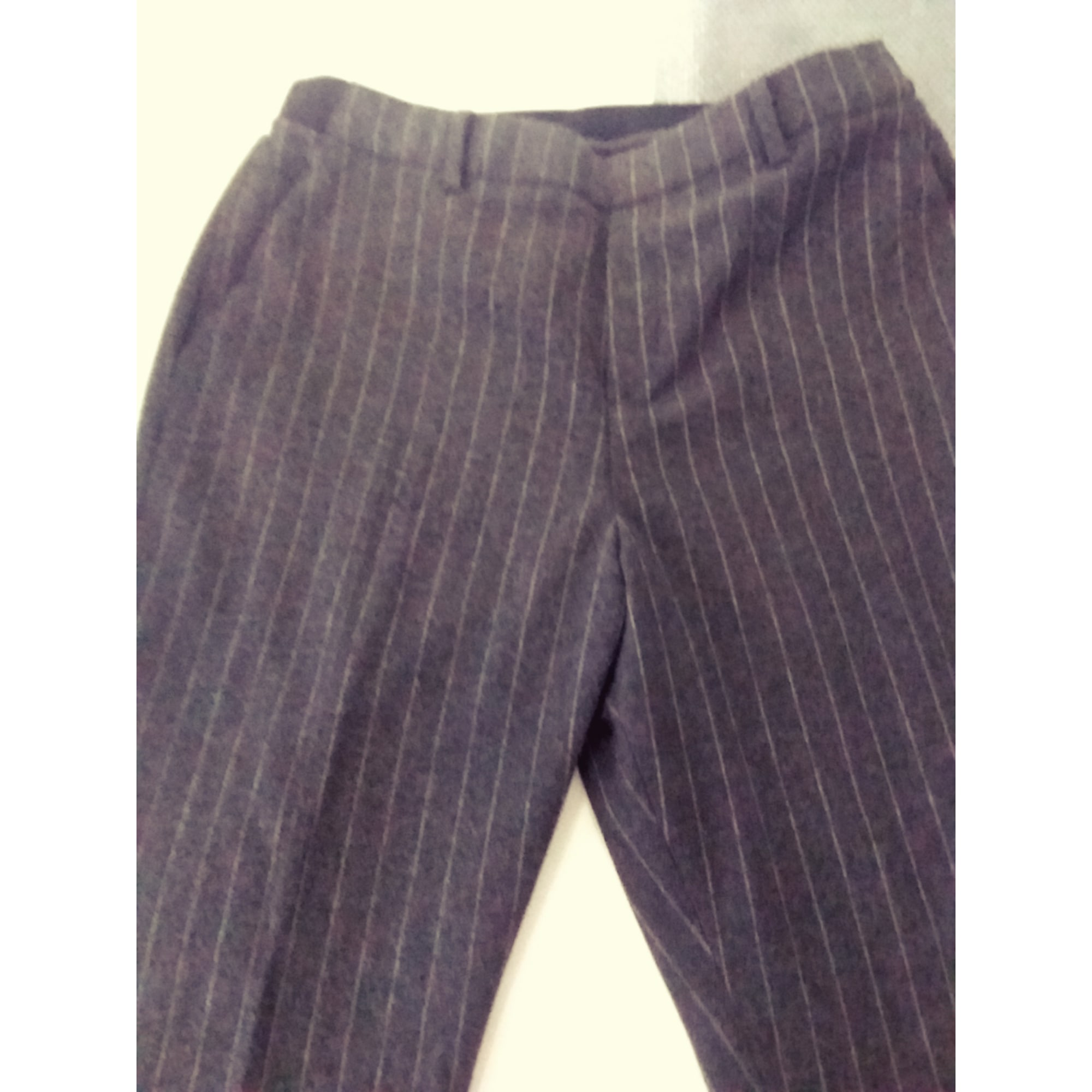 Pantalon droit UNIQLO Gris, anthracite