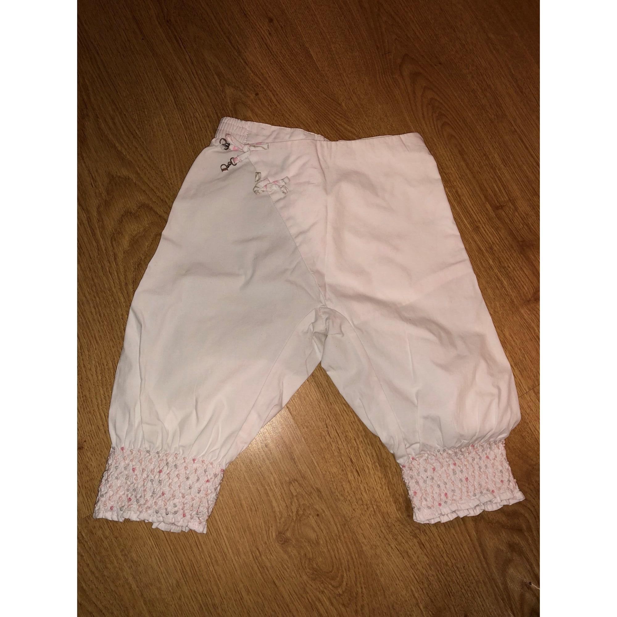 Pantalon BABY DIOR Blanc, blanc cassé, écru