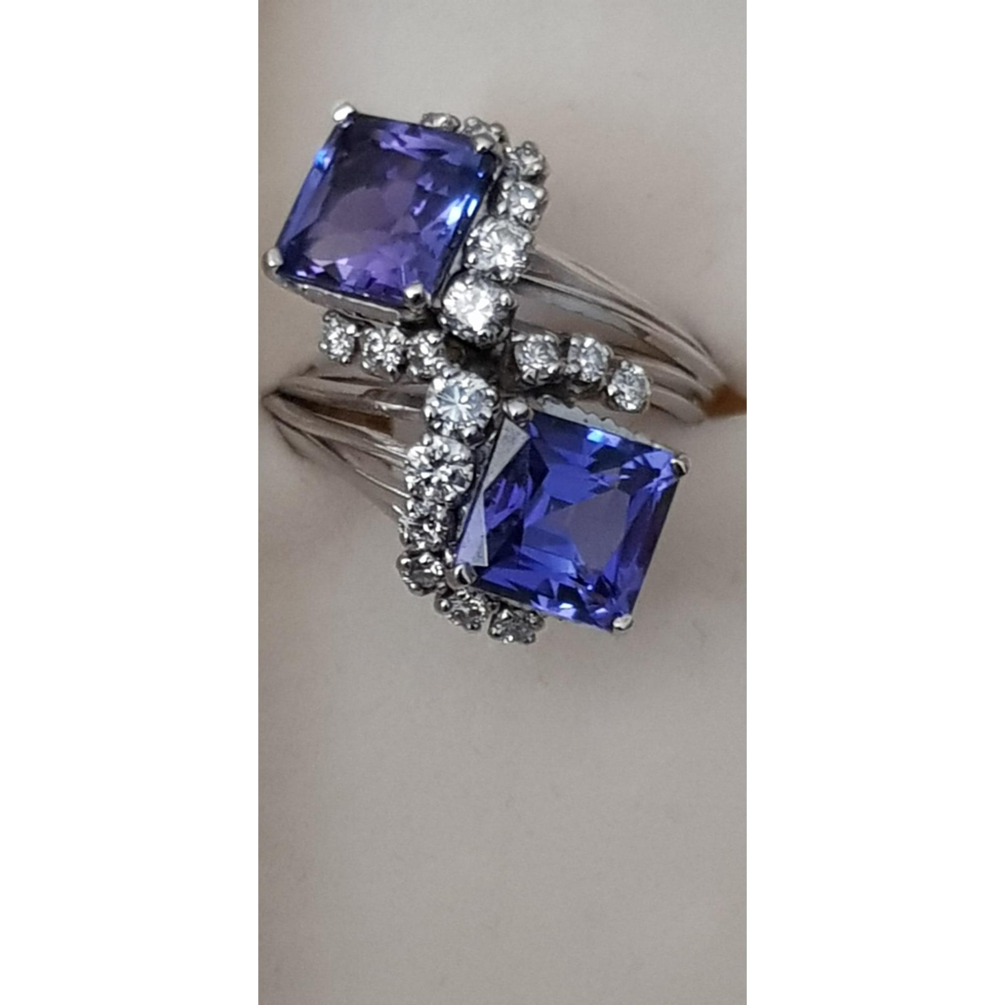 Bague TANZANITE Bleu, bleu marine, bleu turquoise