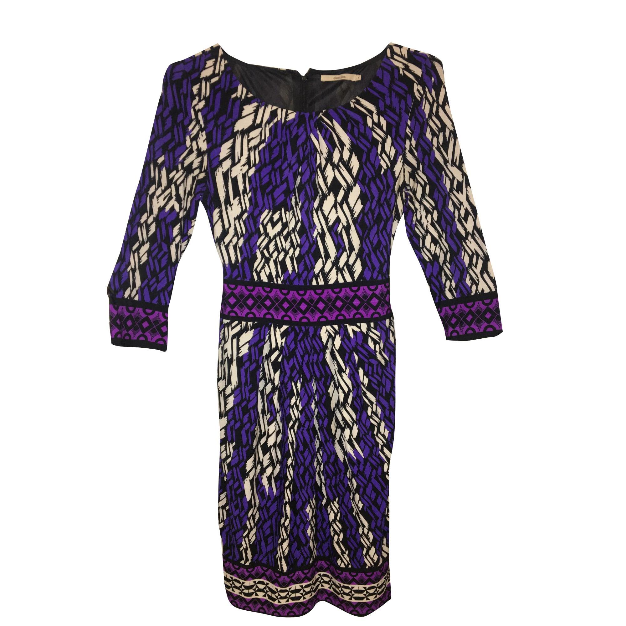 Robe mi-longue ALAIN MANOUKIAN Violet, mauve, lavande