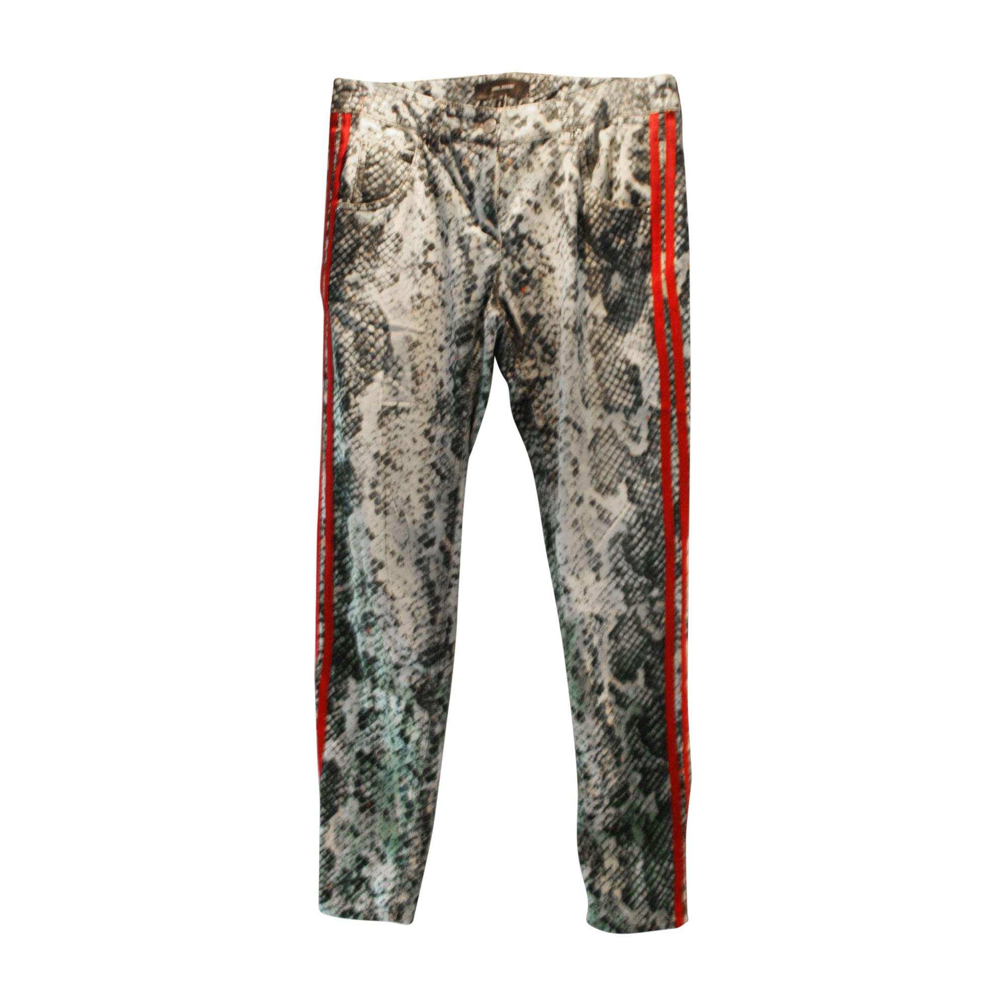 Pantalon slim, cigarette ISABEL MARANT ETOILE Multicouleur
