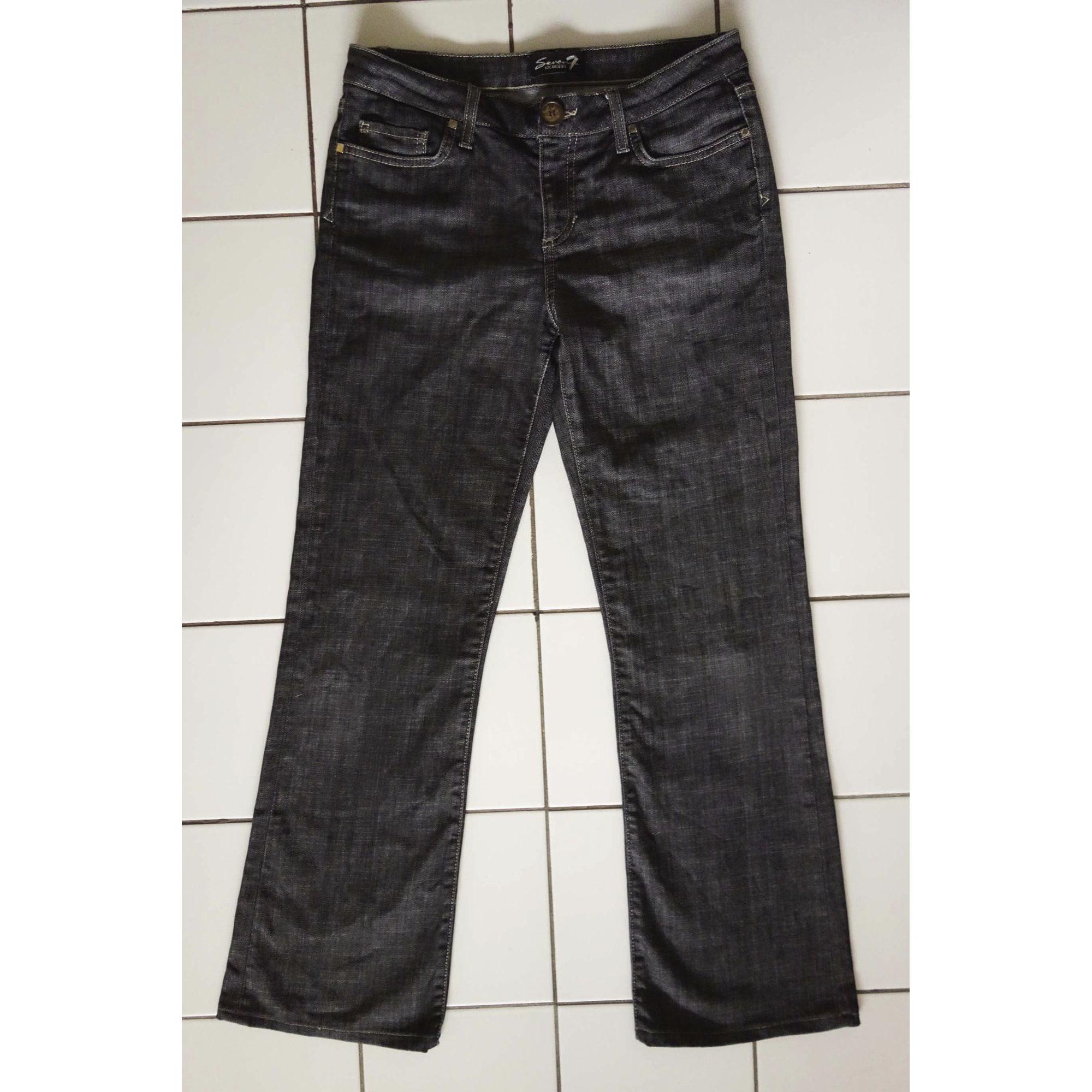 Jeans évasé, boot-cut SEVEN7 Noir
