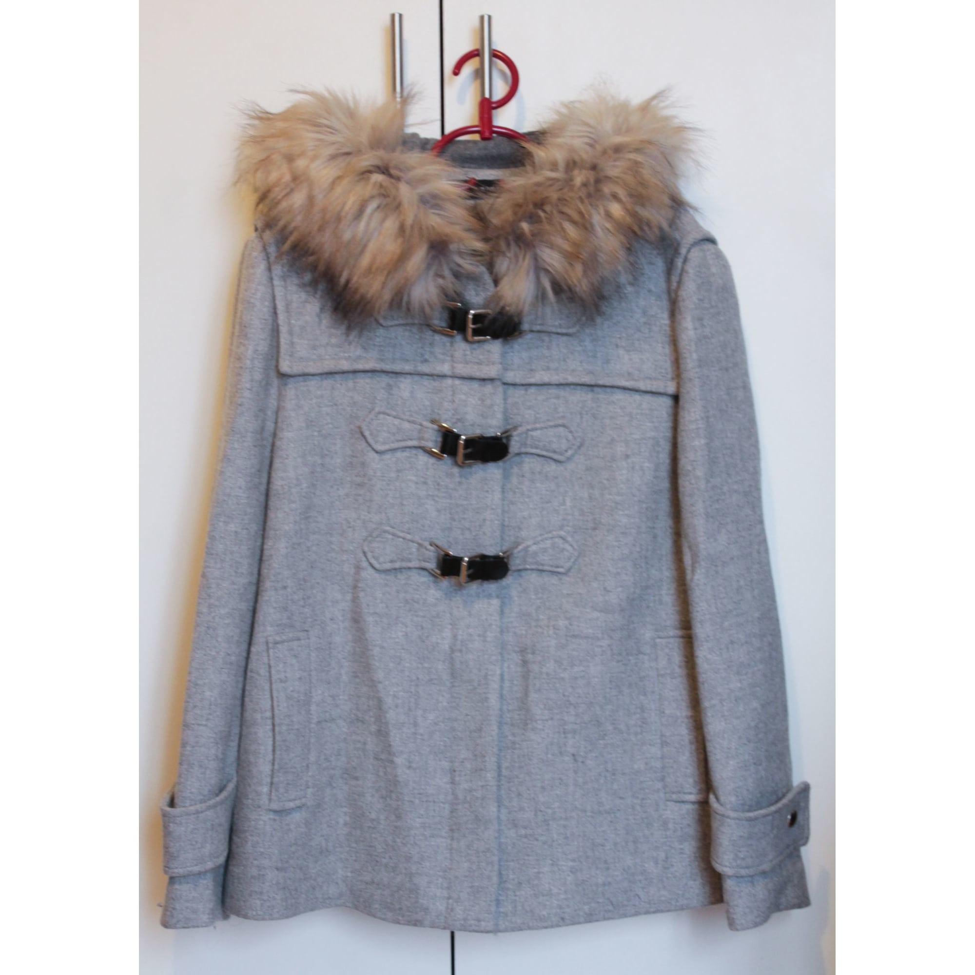 Zara homme en laine mélangée gris Duffle coat avec zip