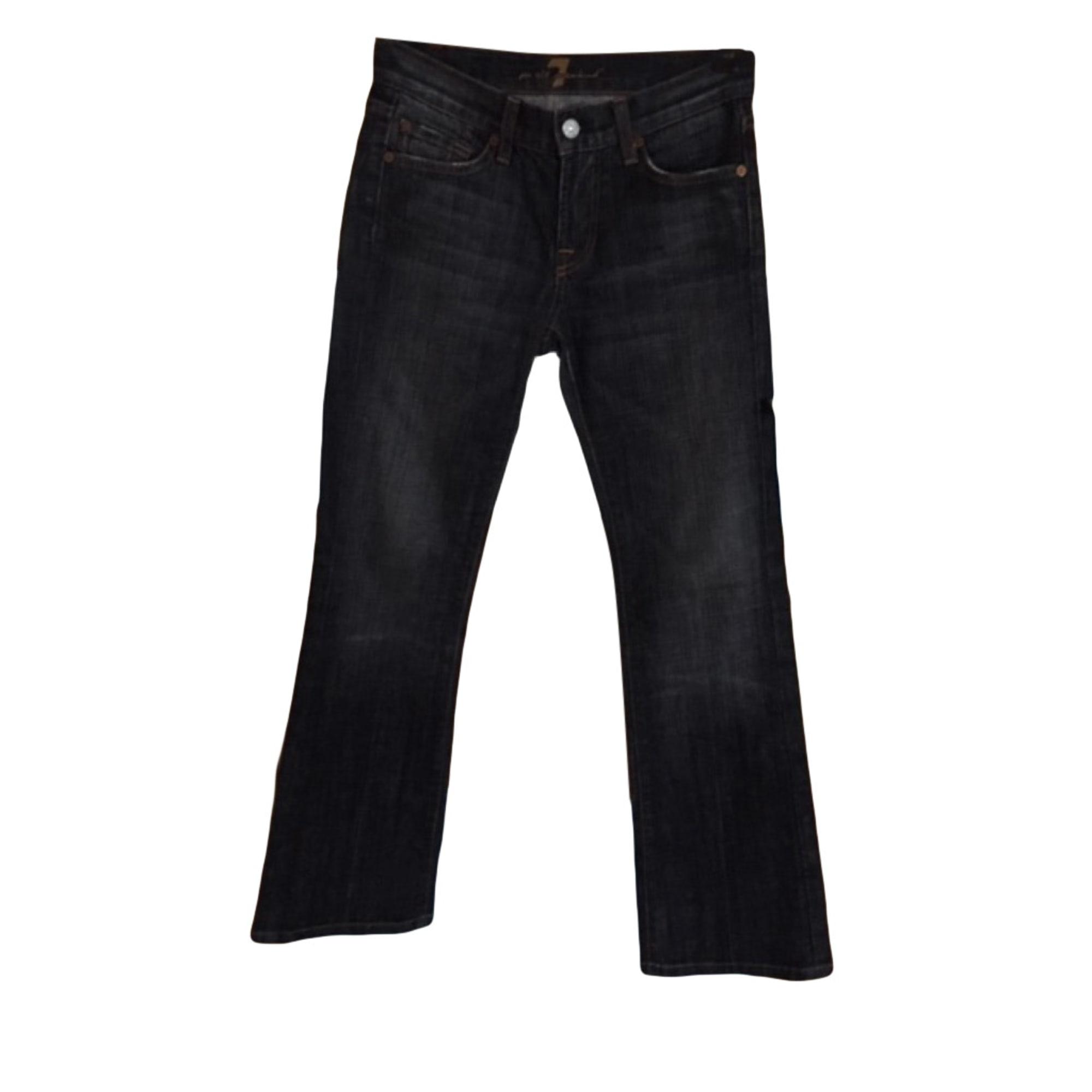 Jeans large, boyfriend 7 FOR ALL MANKIND Noir