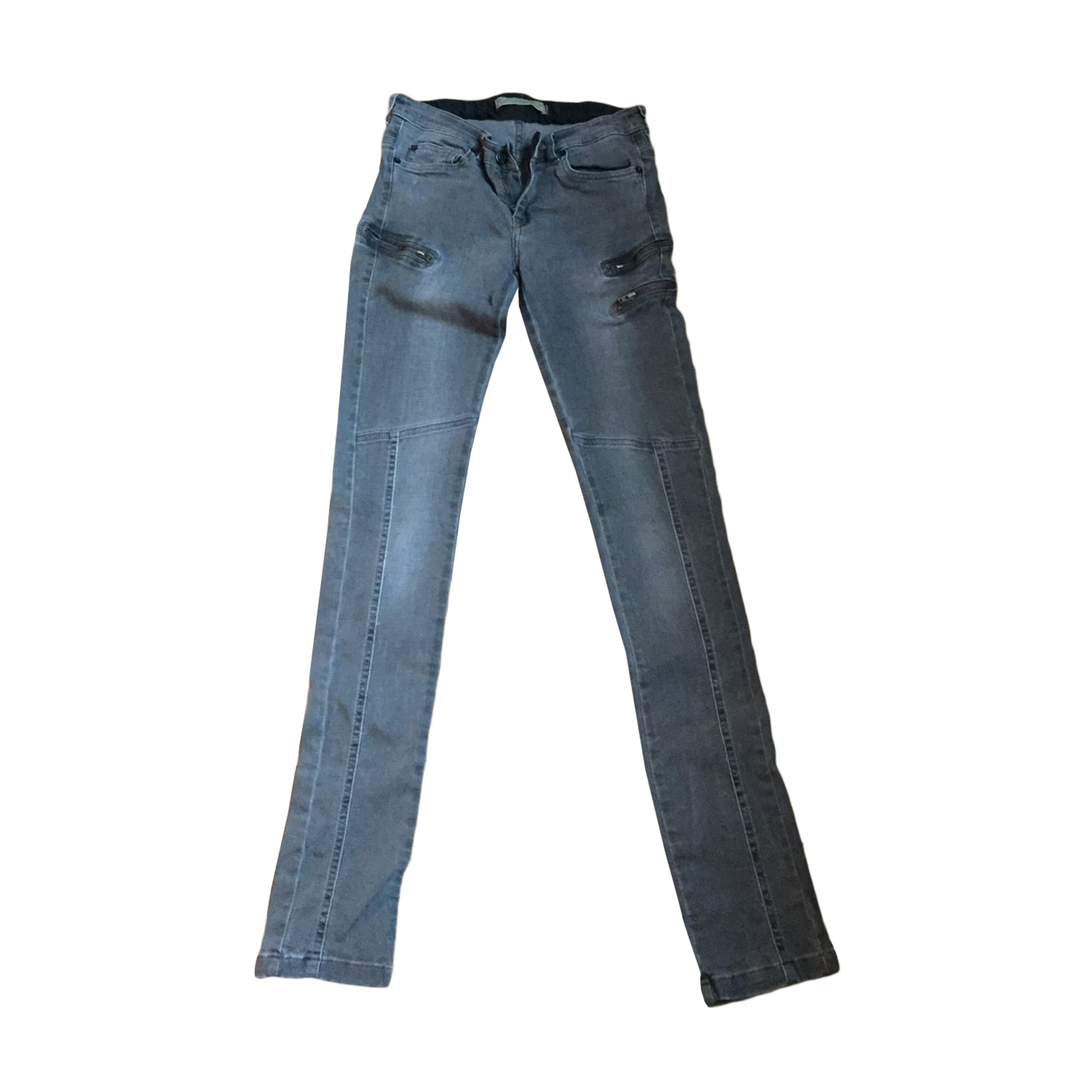 Jeans slim IKKS Gris, anthracite