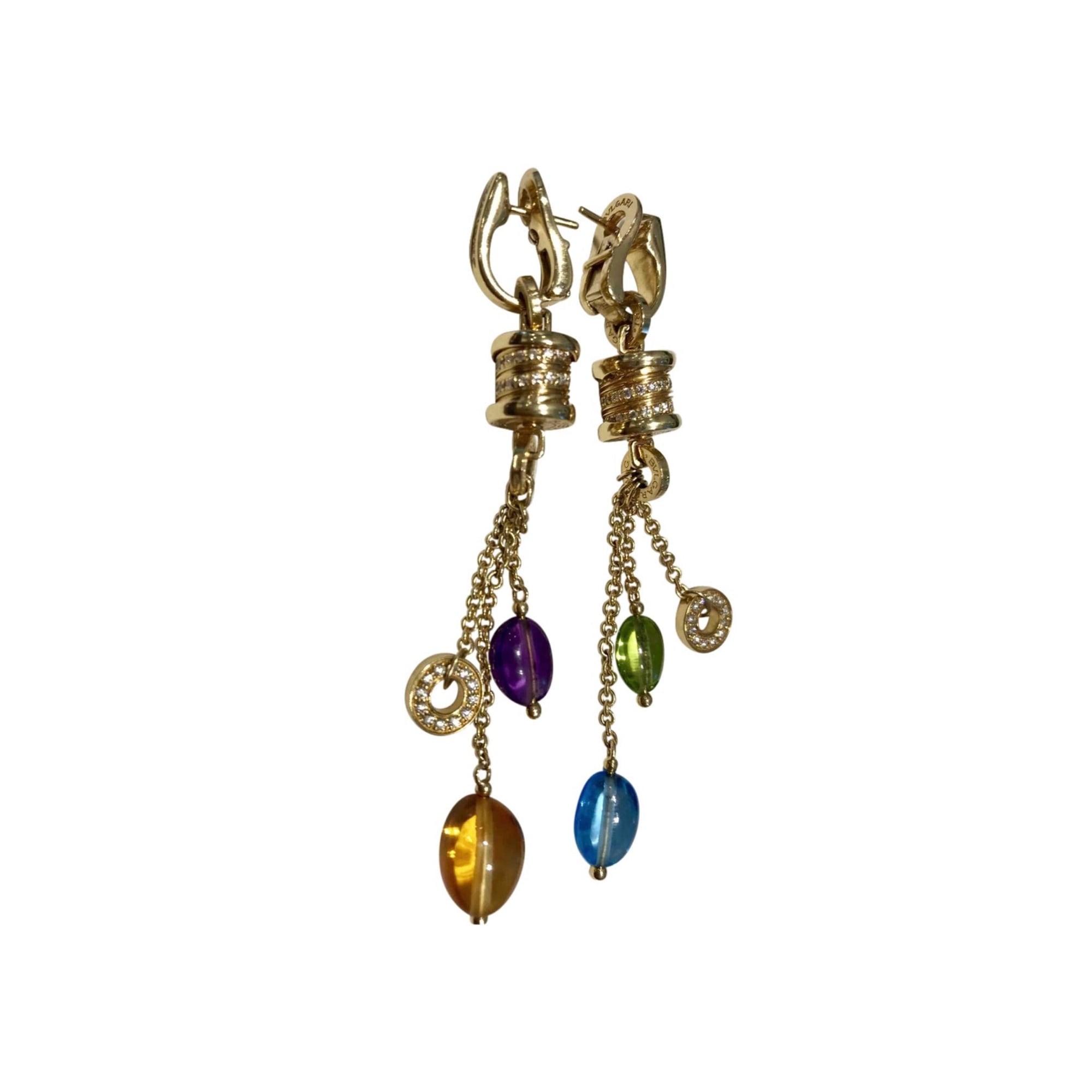 Boucles d'oreilles BULGARI Doré, bronze, cuivre