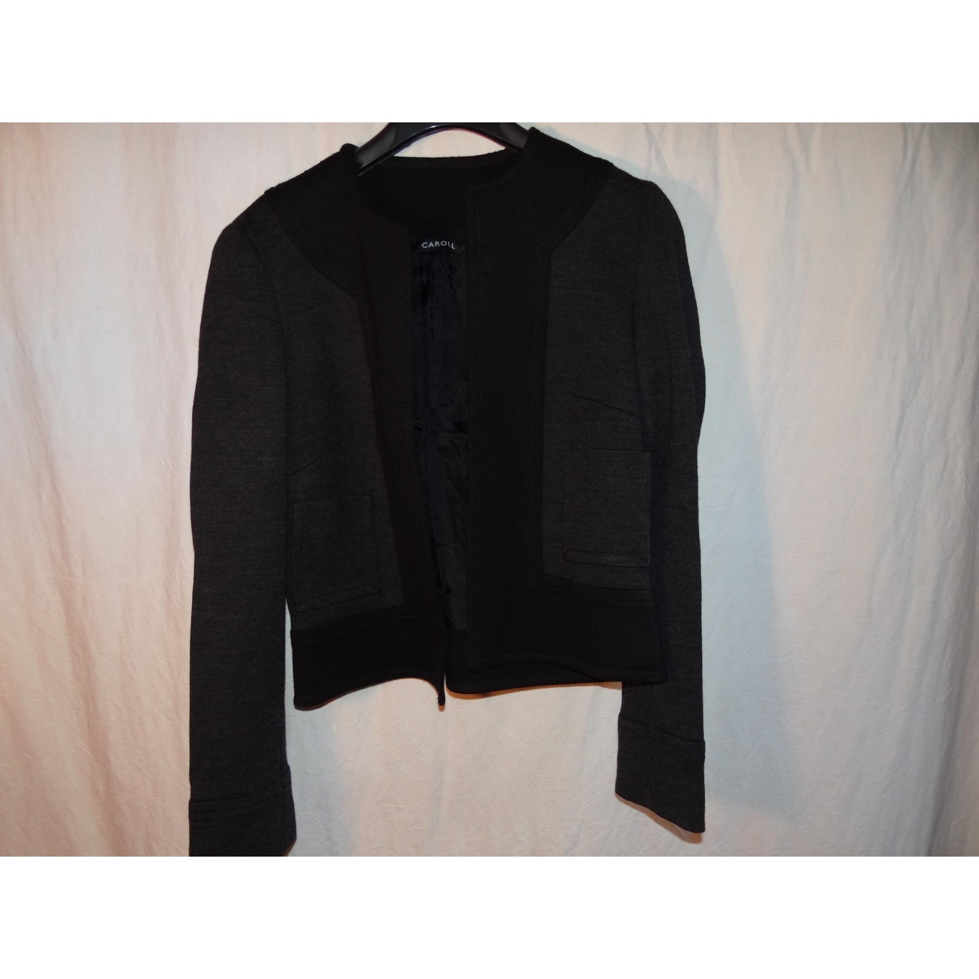 Blazer, veste tailleur CAROLL Gris, anthracite