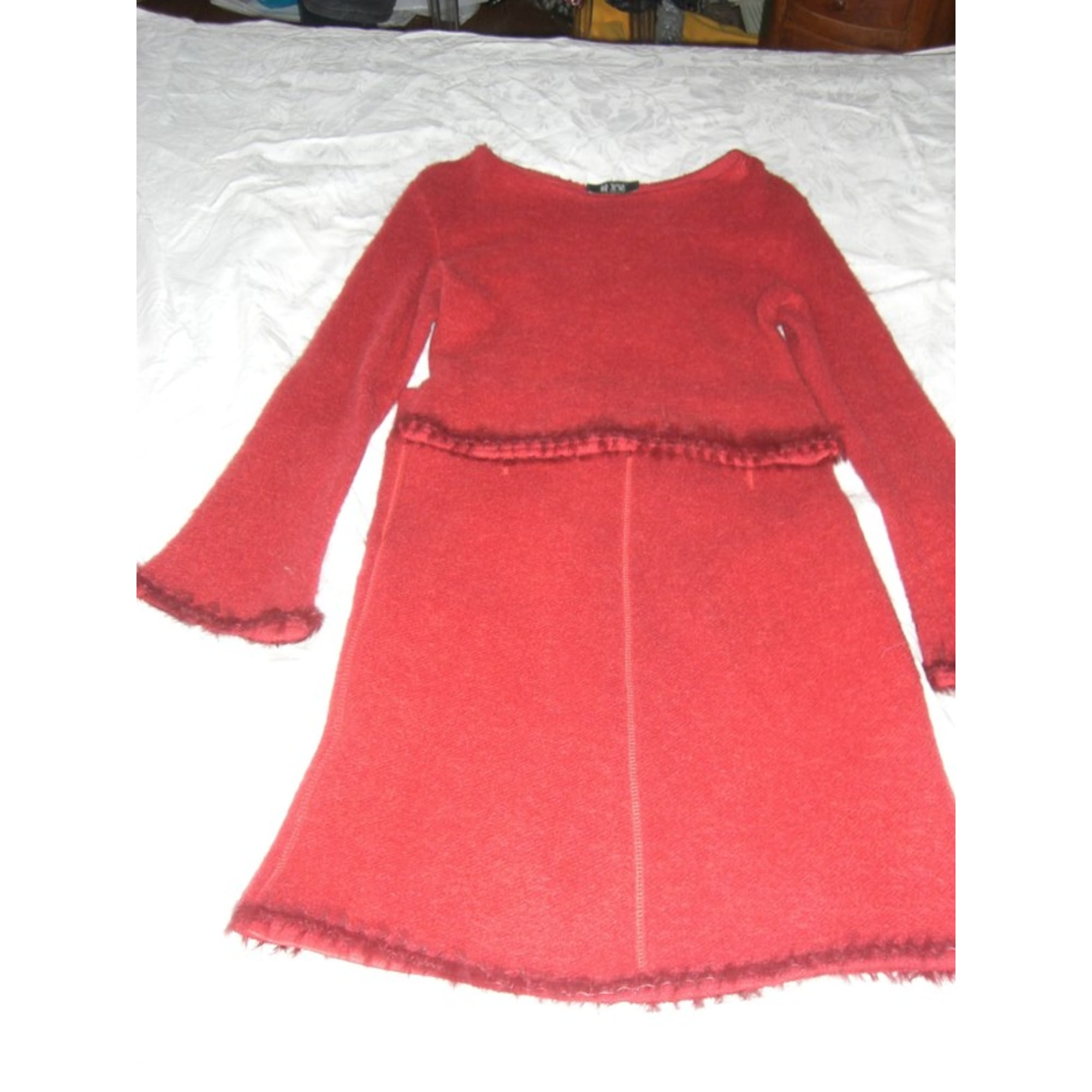 Tailleur jupe KRISTINA POPOVITCH Rouge, bordeaux