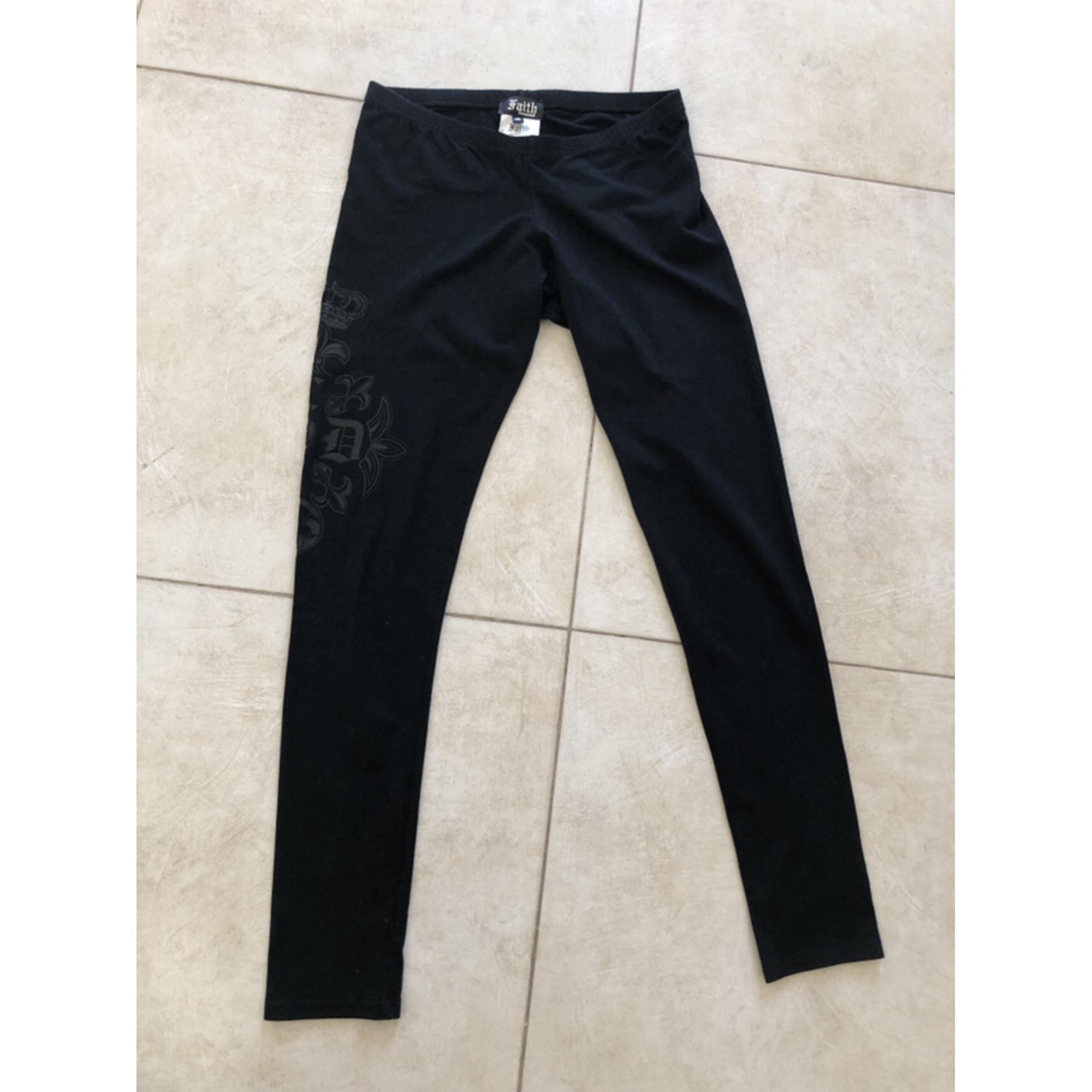 Pantalon slim, cigarette FAITH CONNEXION Noir