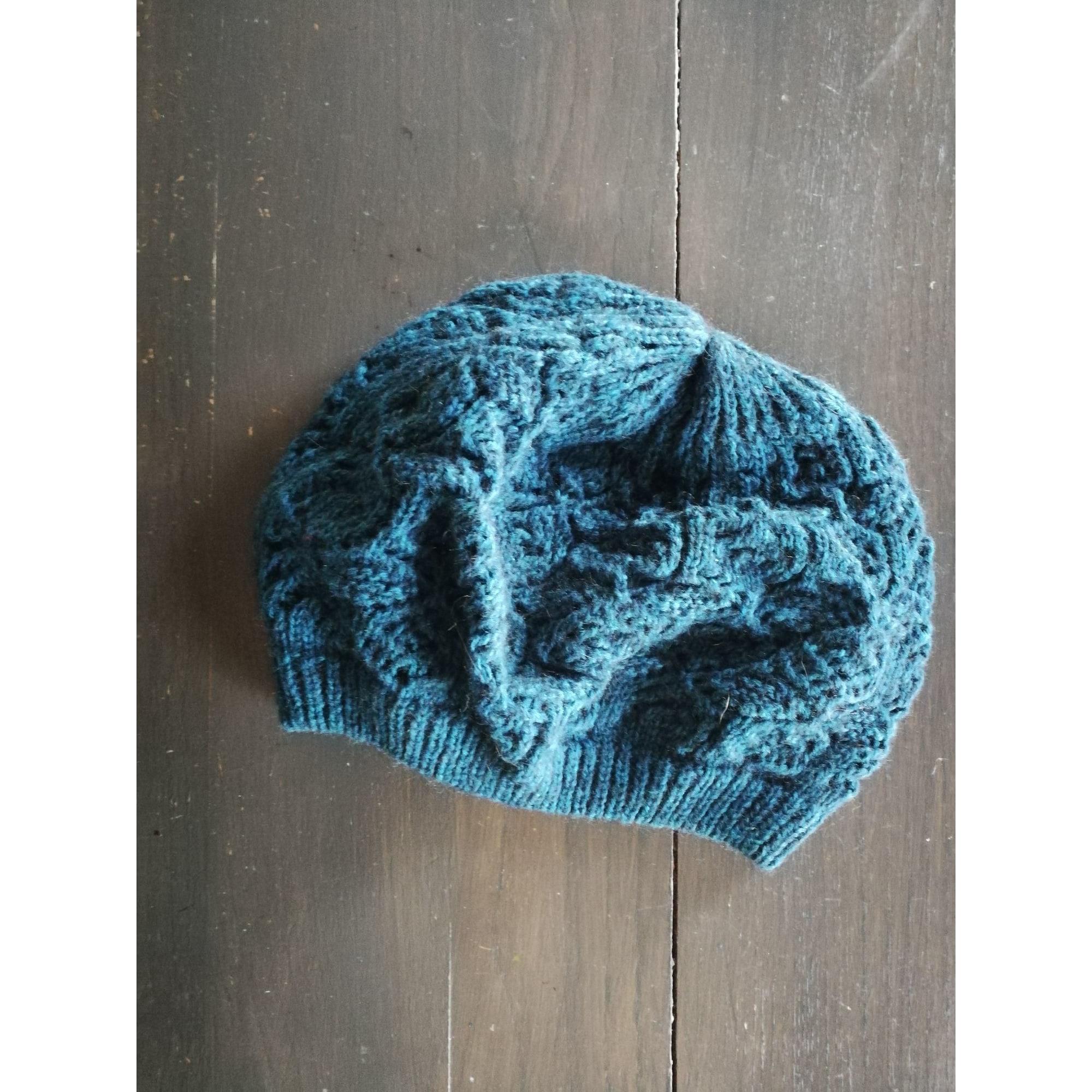 Bonnet LA FÉE MARABOUTÉE Bleu, bleu marine, bleu turquoise