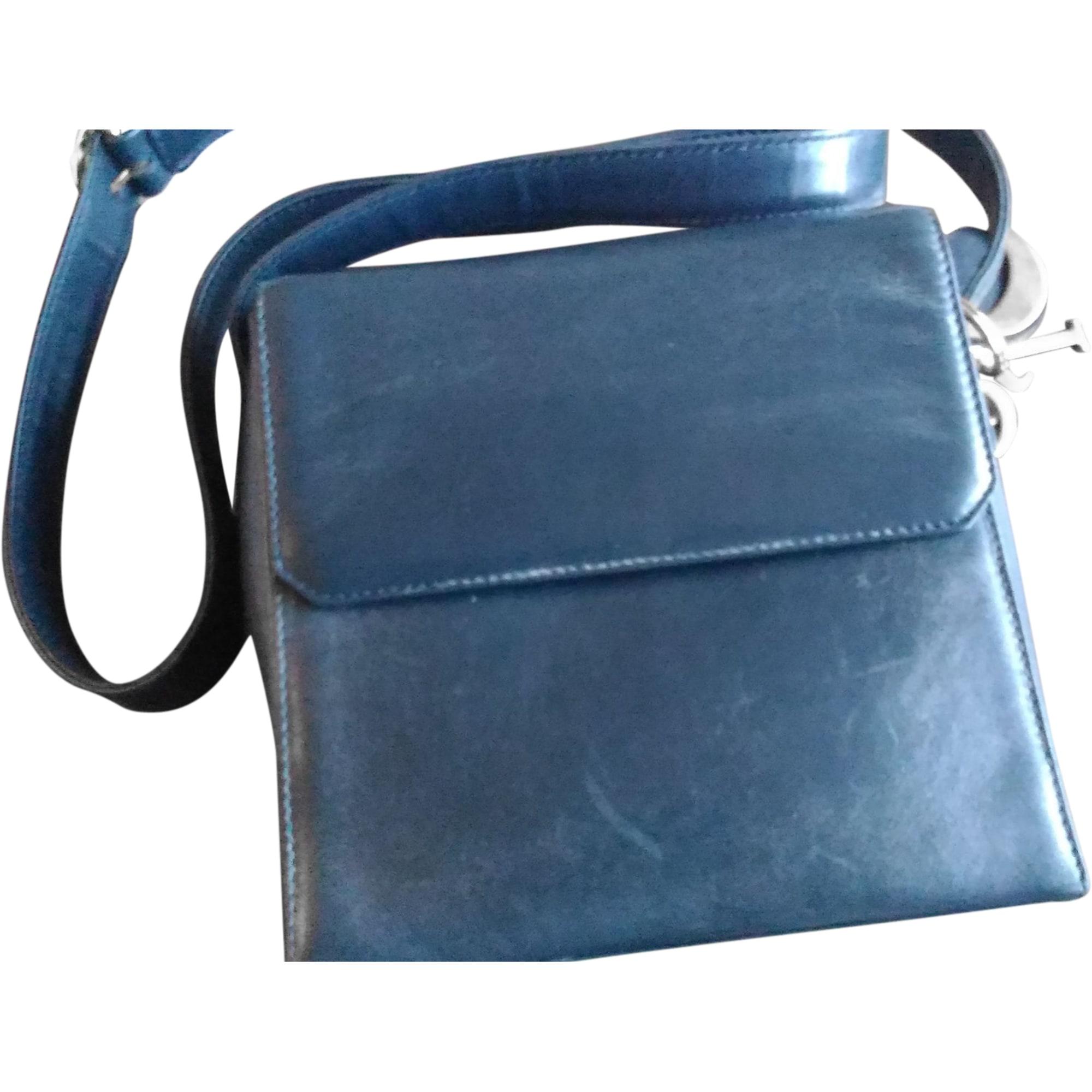 Sac en bandoulière en cuir DIOR Bleu, bleu marine, bleu turquoise