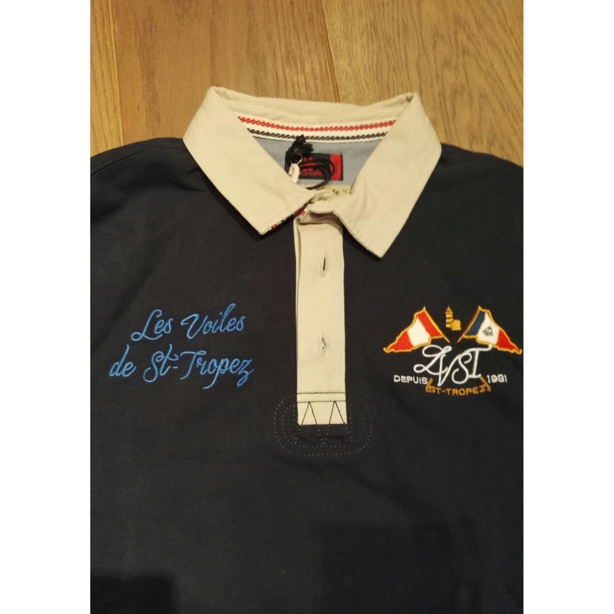 Polo LES VOILES DE ST-TROPEZ 1 (S) bleu -