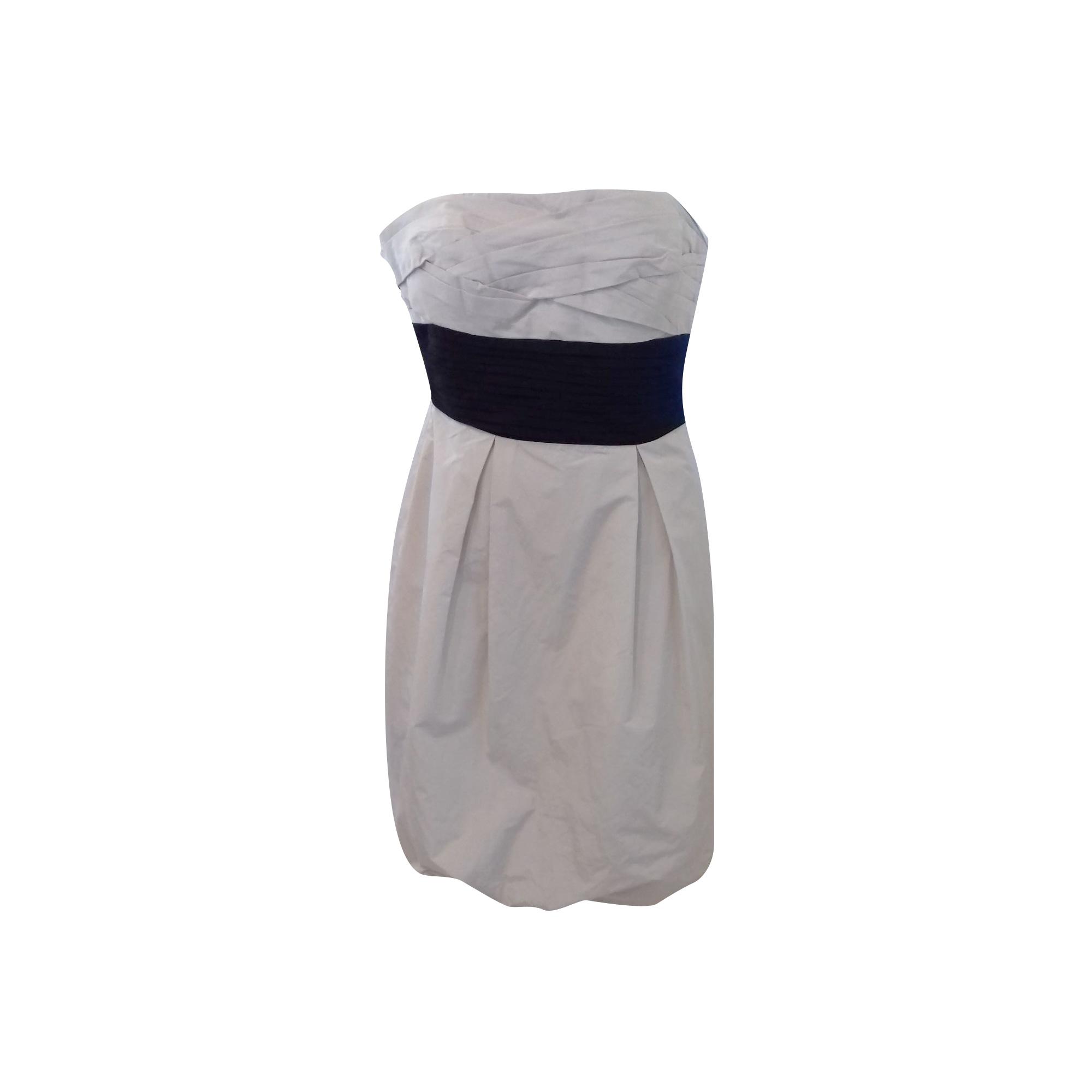 Robe courte BCBG MAX AZRIA Blanc, blanc cassé, écru