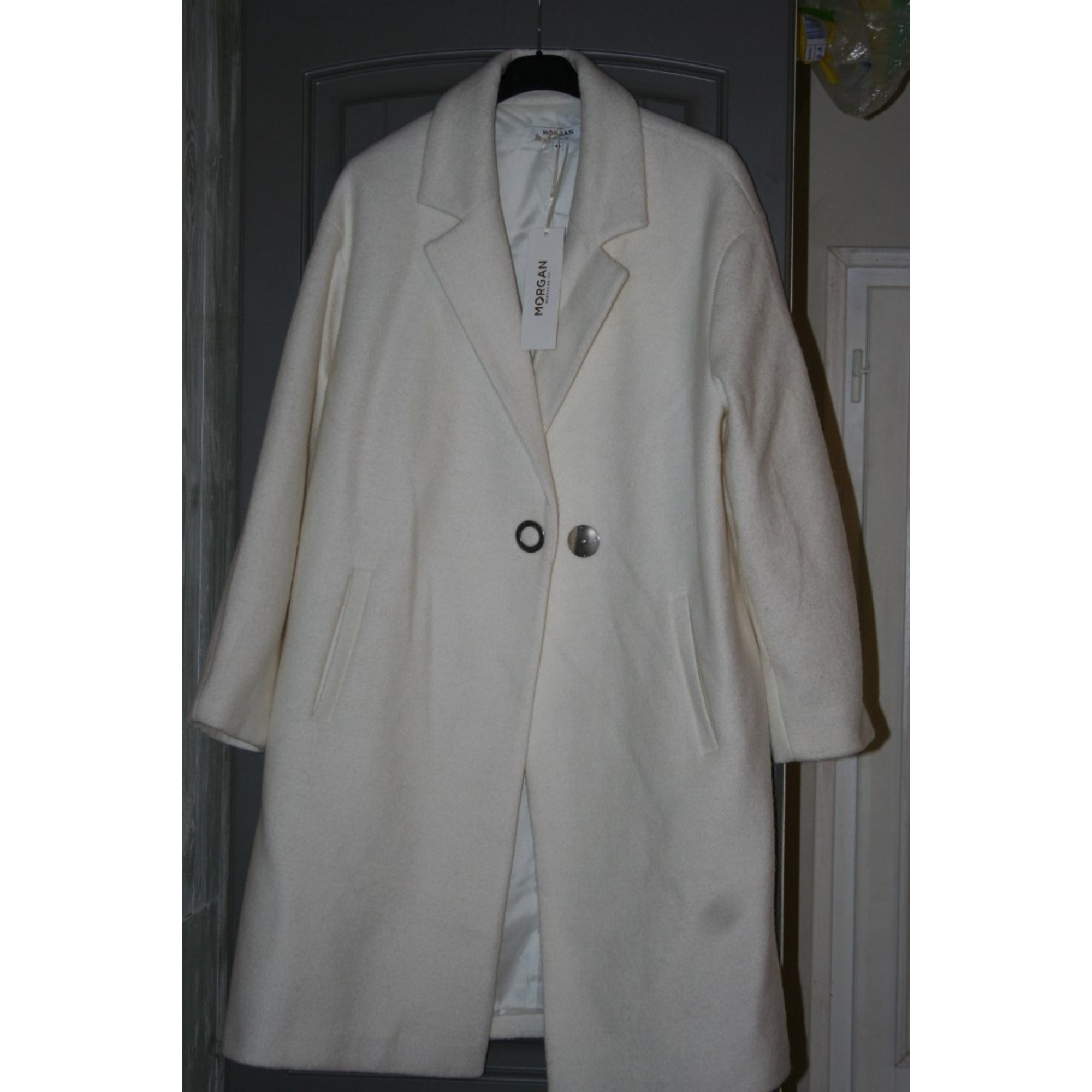 Manteau MORGAN Blanc, blanc cassé, écru