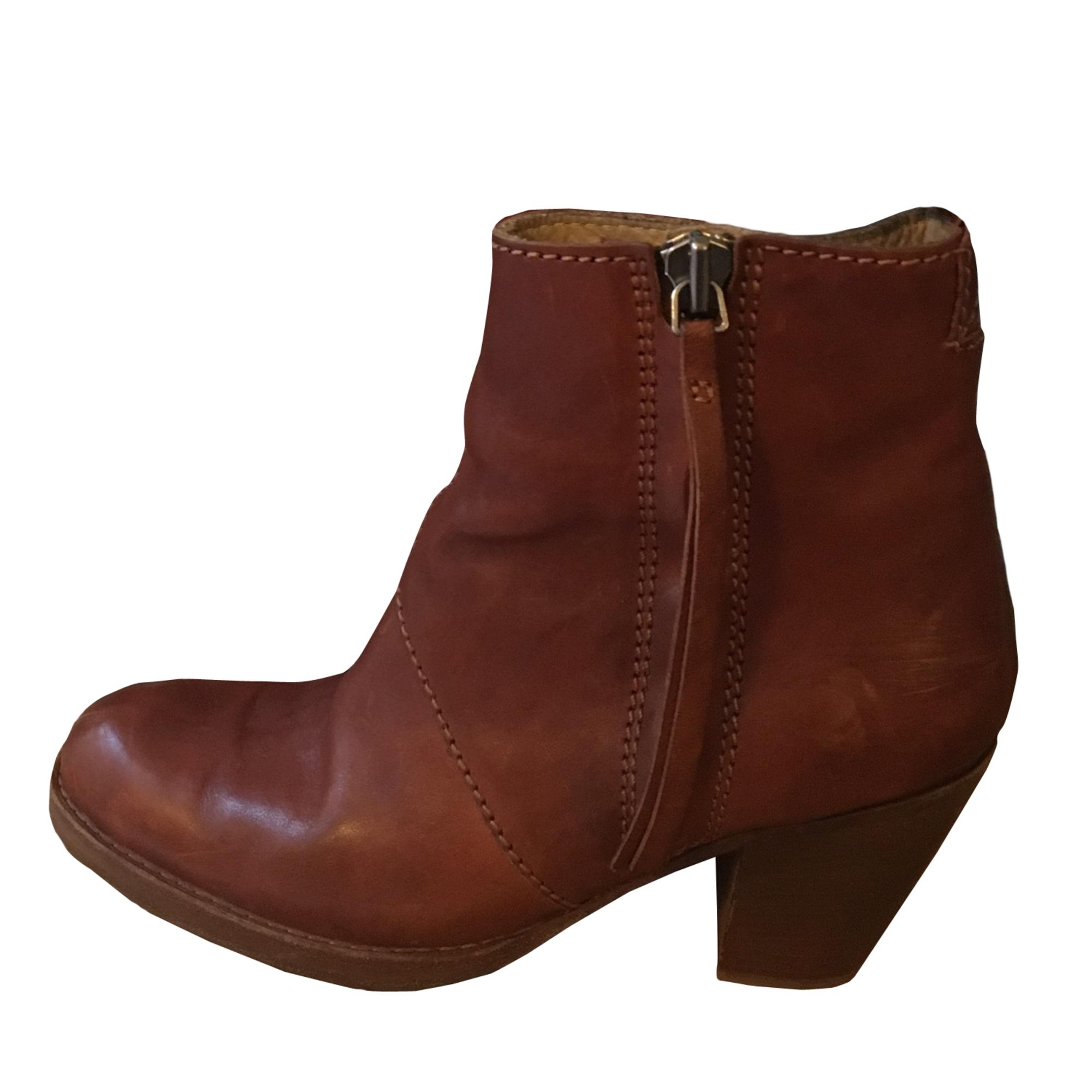 Bottines & low boots à talons ACNE Marron