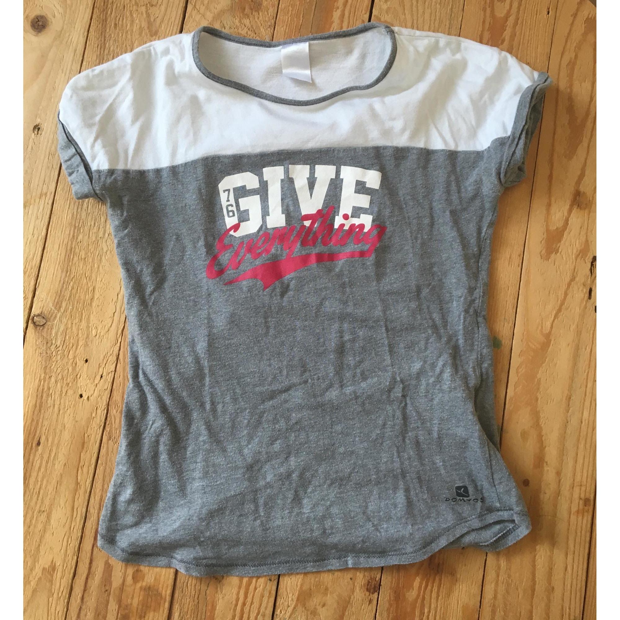 Top, Tee-shirt DOMYOS Gris, anthracite
