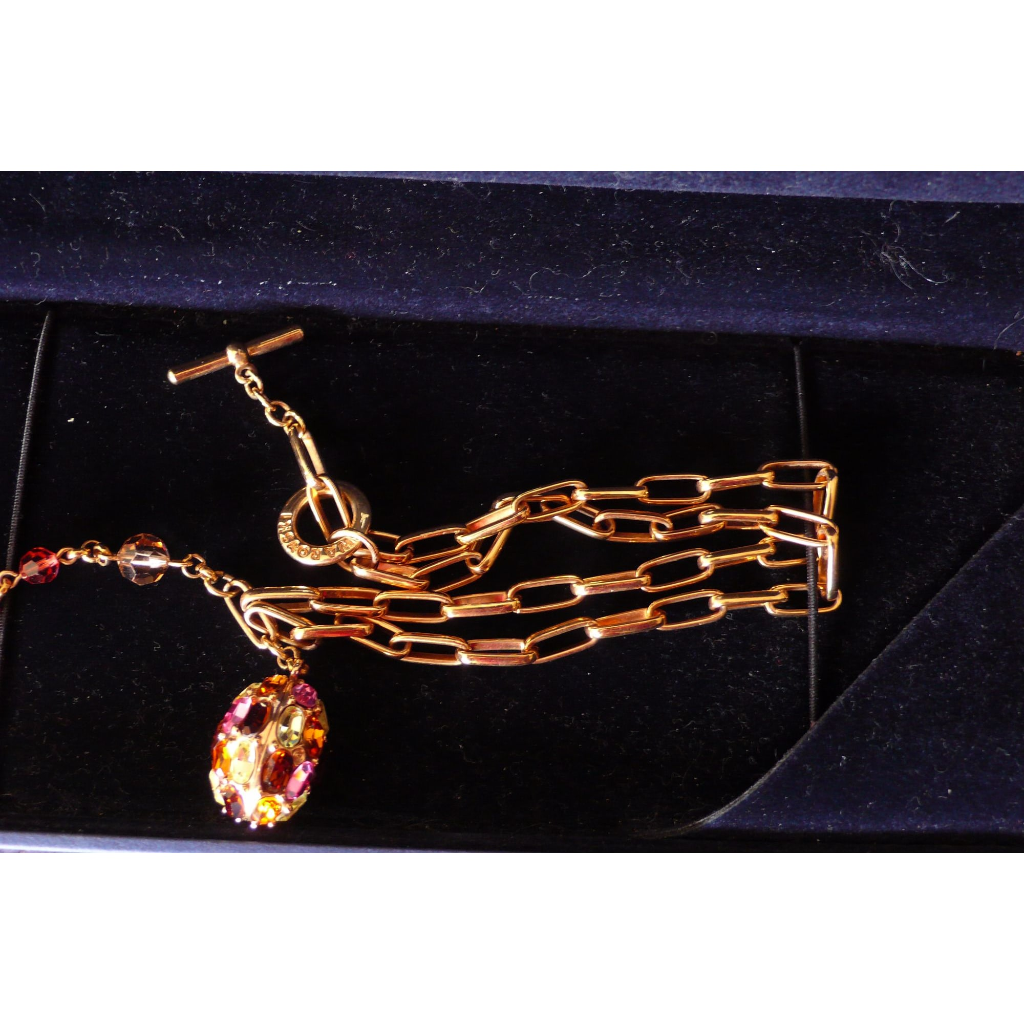 Pendentif, collier pendentif SWAROVSKI Doré, bronze, cuivre