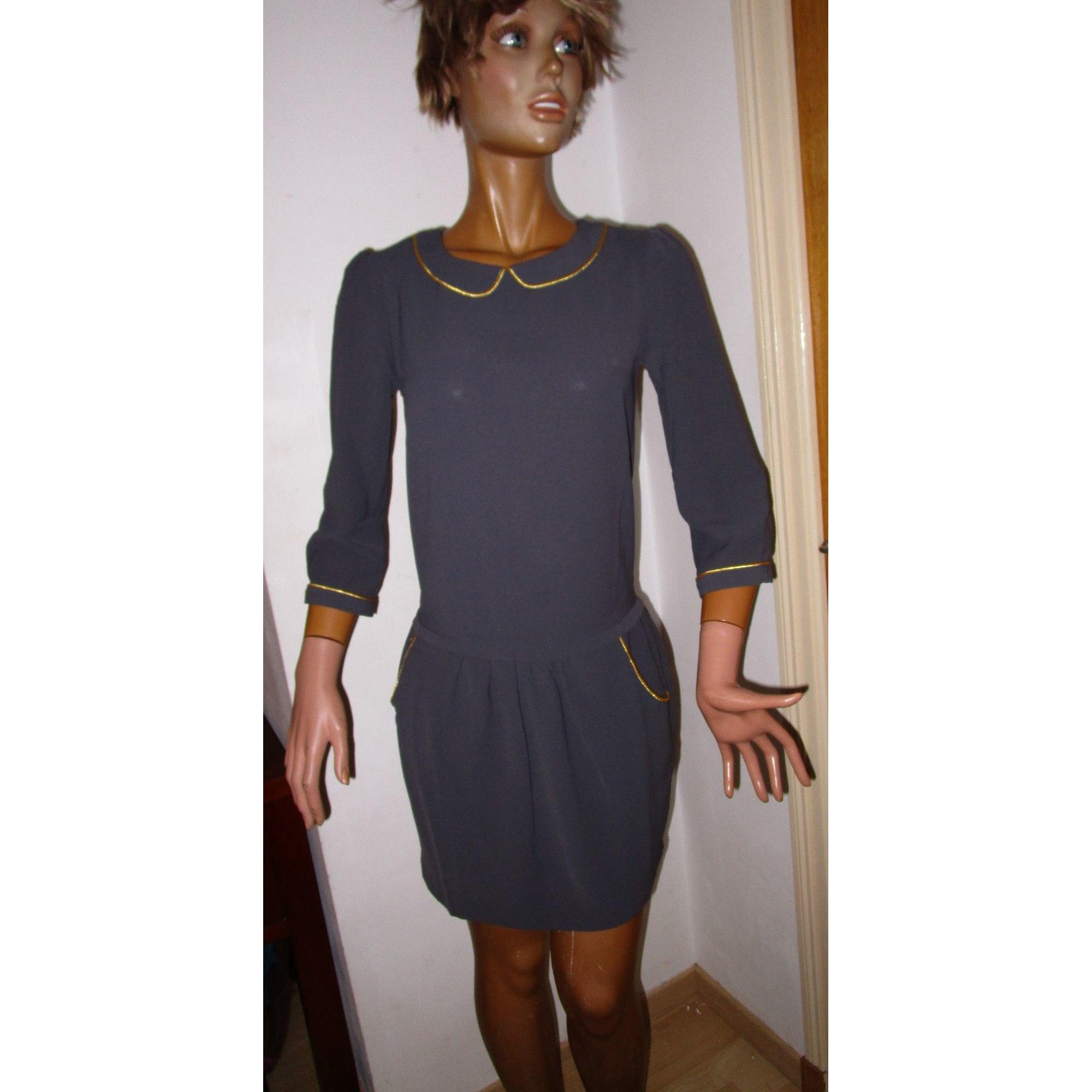 Robe Courte Mademoiselle R 34 Xs T0 Gris 8423095