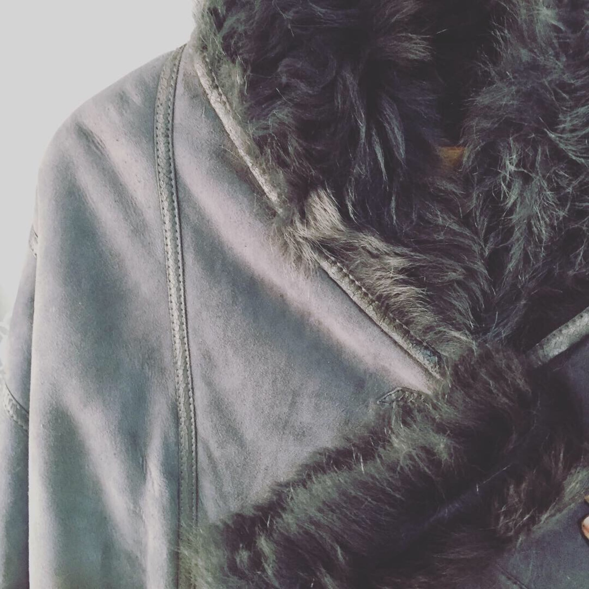 Manteau en fourrure SHEARLING Gris, anthracite