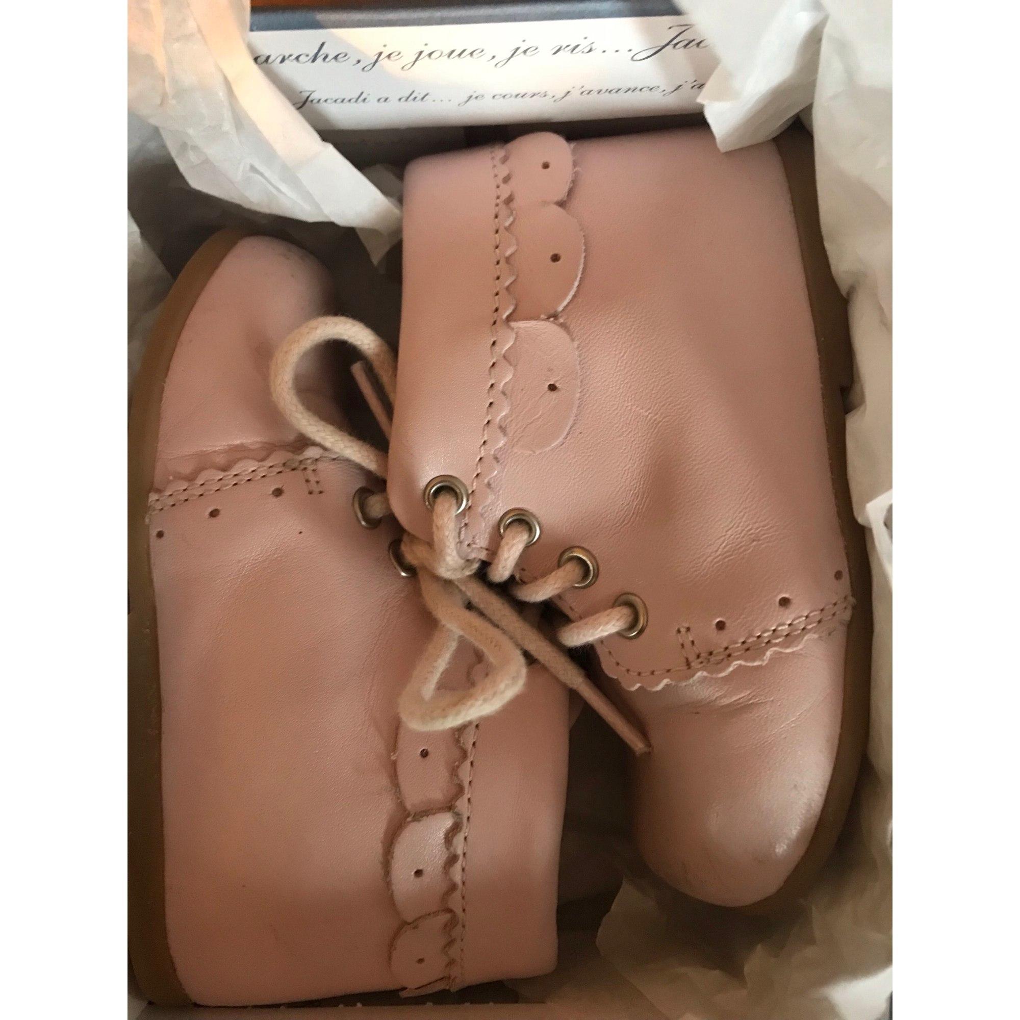 Chaussures à lacets JACADI Rose, fuschia, vieux rose
