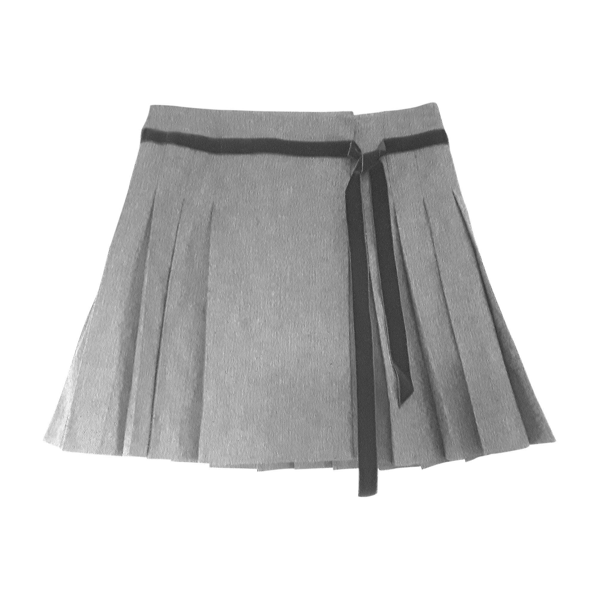 Jupe courte RED VALENTINO Gris, anthracite