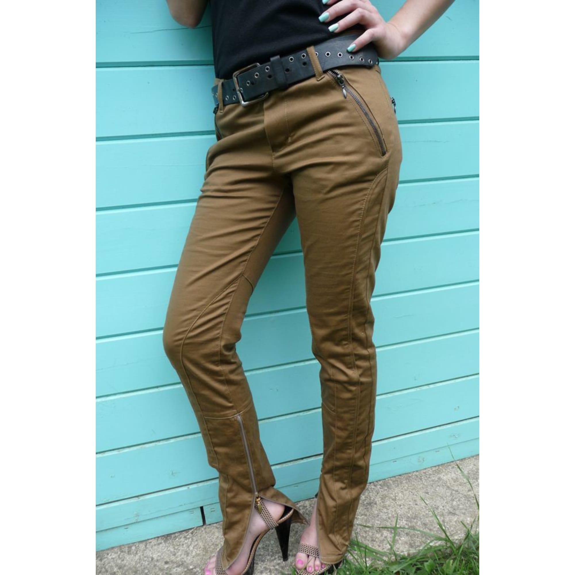 Pantalon slim, cigarette 3 SUISSES Doré, bronze, cuivre