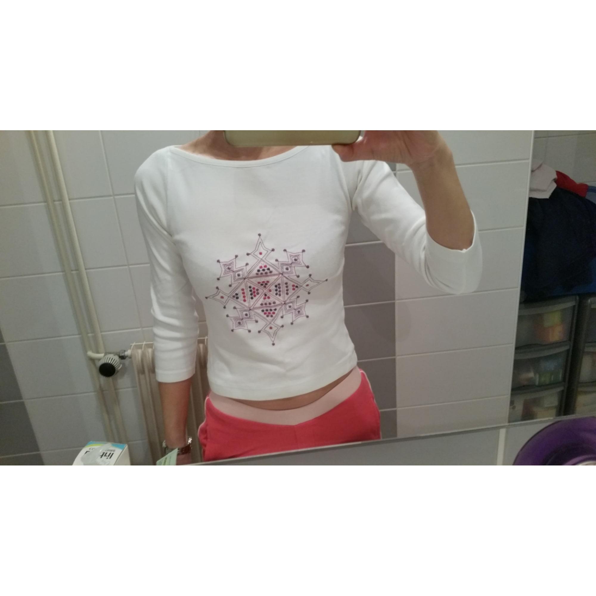 Top, tee-shirt SINÉQUANONE Blanc, blanc cassé, écru