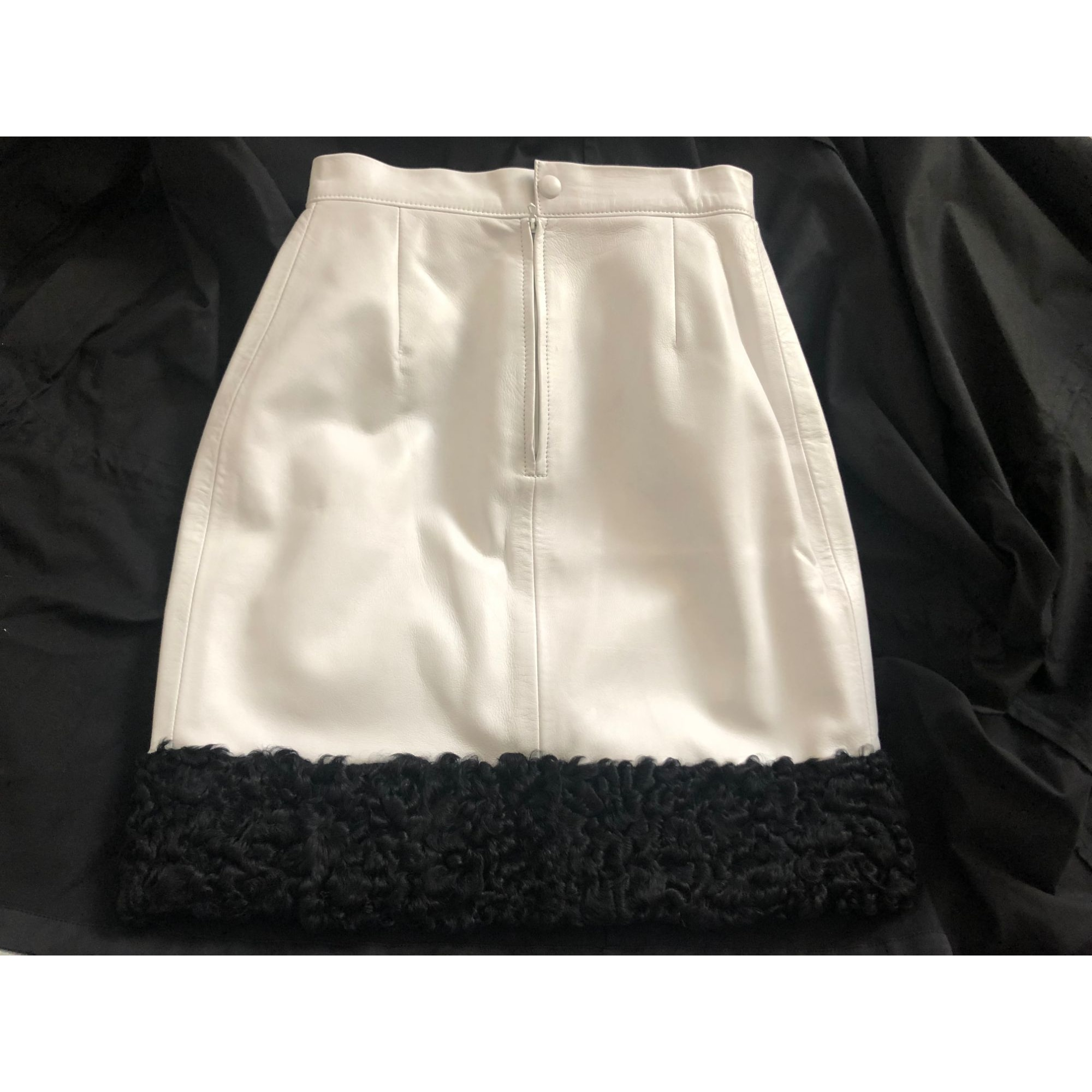 Jupe mi-longue MURIEL Blanc, blanc cassé, écru