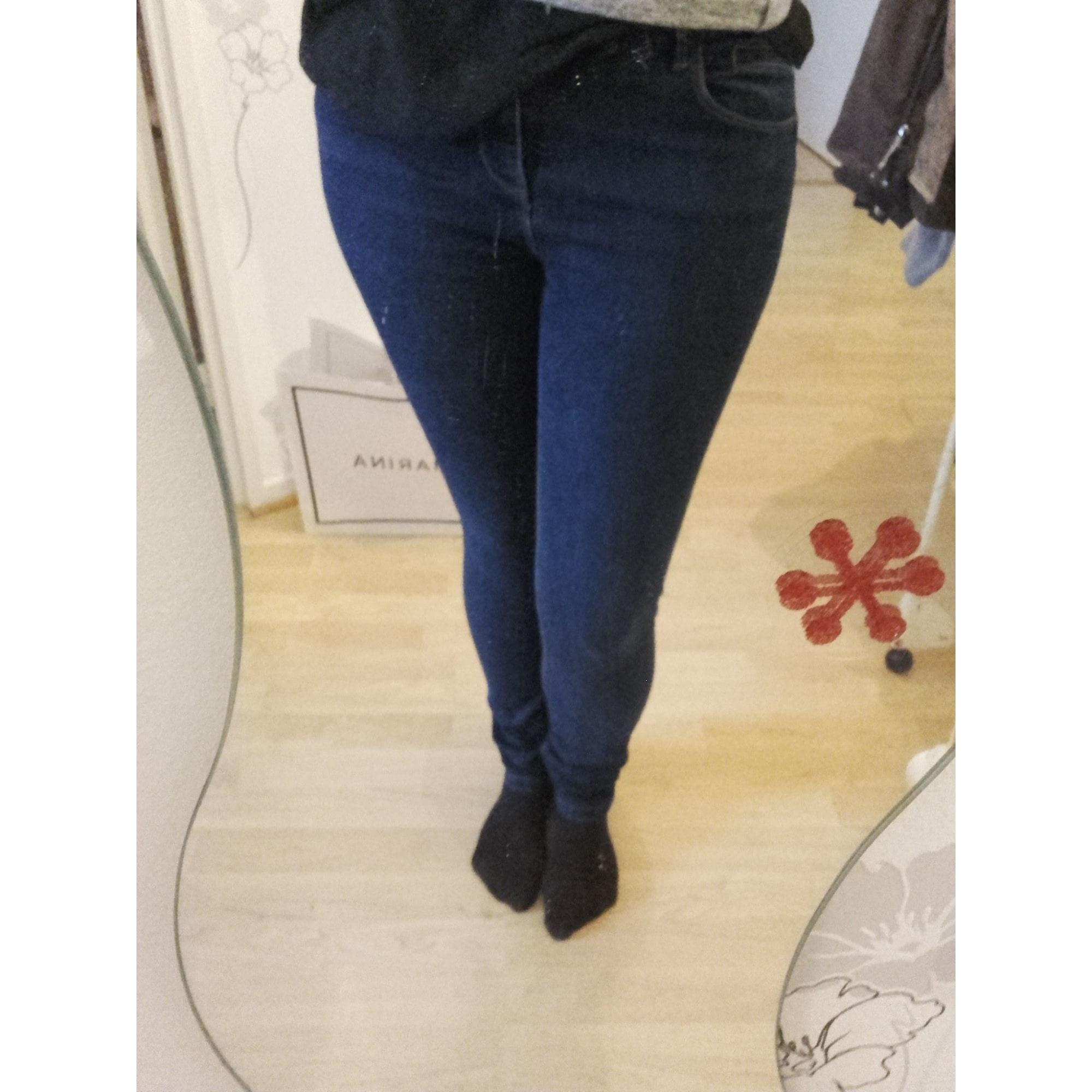 Pantalon slim, cigarette PROMOD Bleu, bleu marine, bleu turquoise