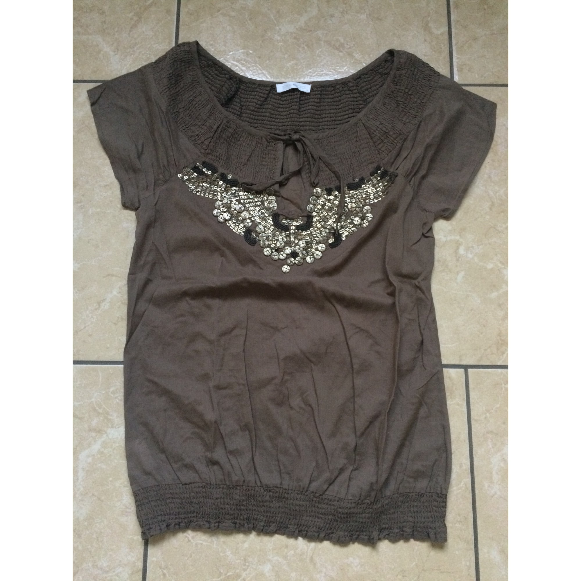 Blouse PROMOD Marron