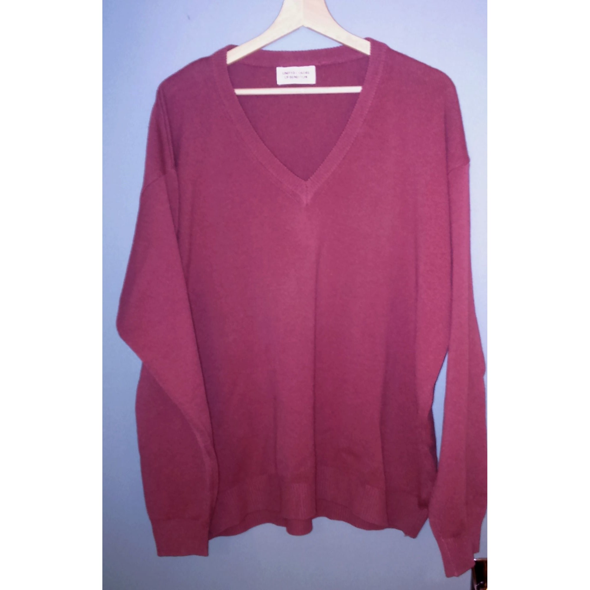 Pull UNITED COLORS OF BENETTON Rouge, bordeaux