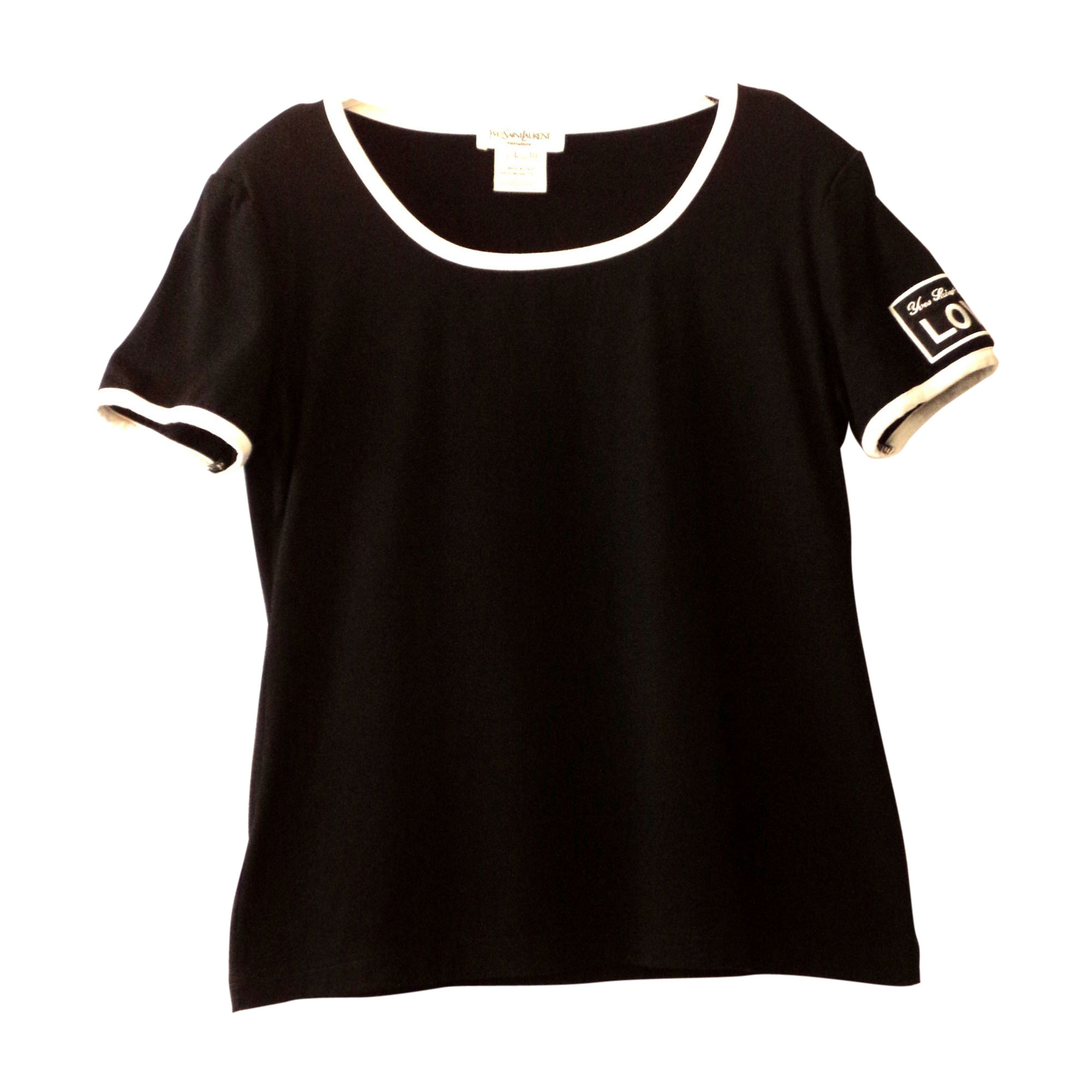 Top, tee-shirt YVES SAINT LAURENT Noir