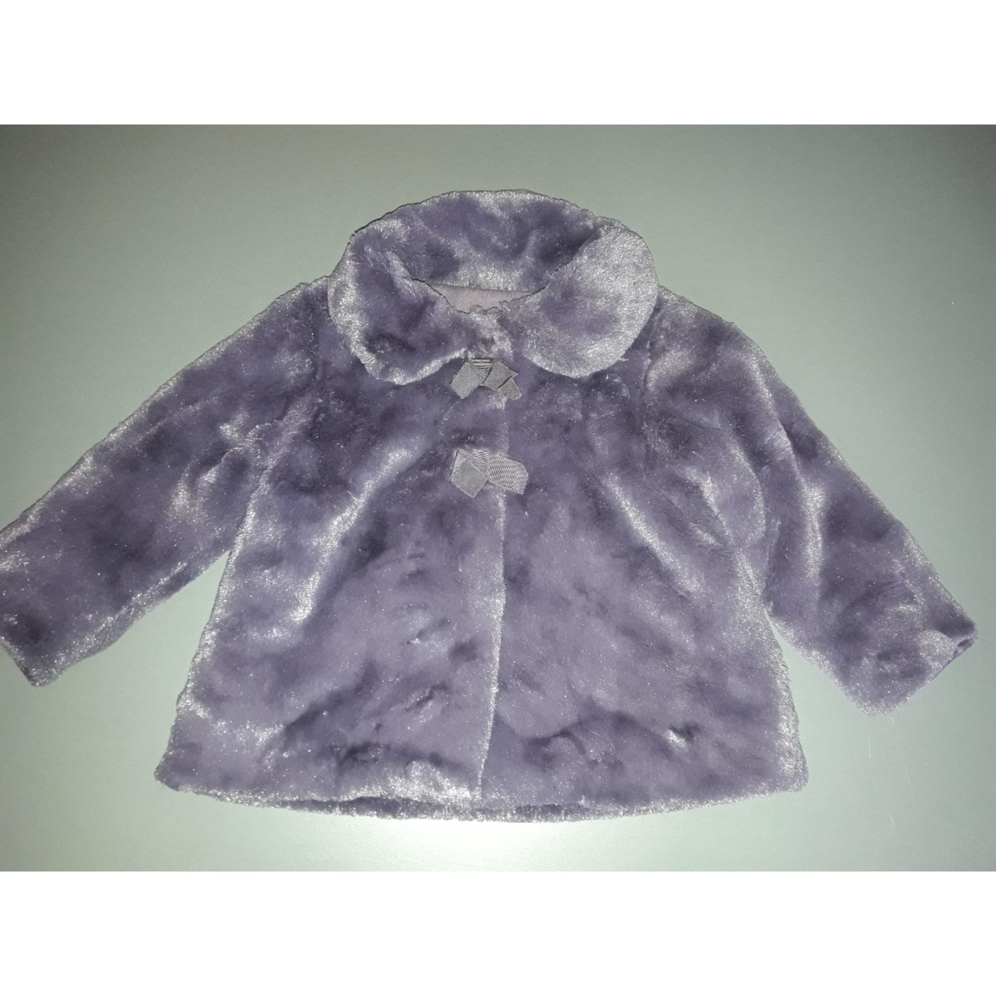 Manteau LILI GAUFRETTE Violet, mauve, lavande