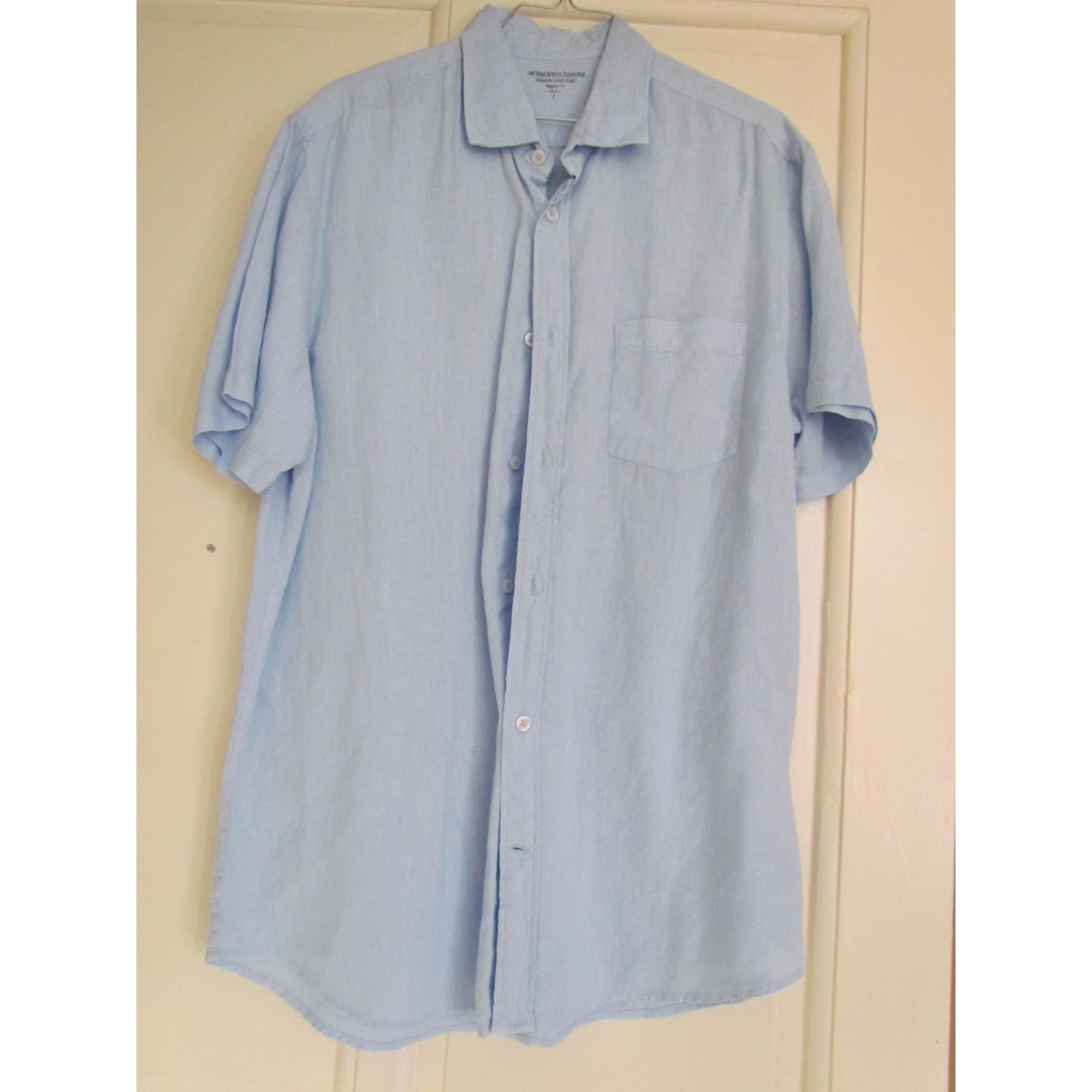 Chemisette MONOPRIX Bleu, bleu marine, bleu turquoise