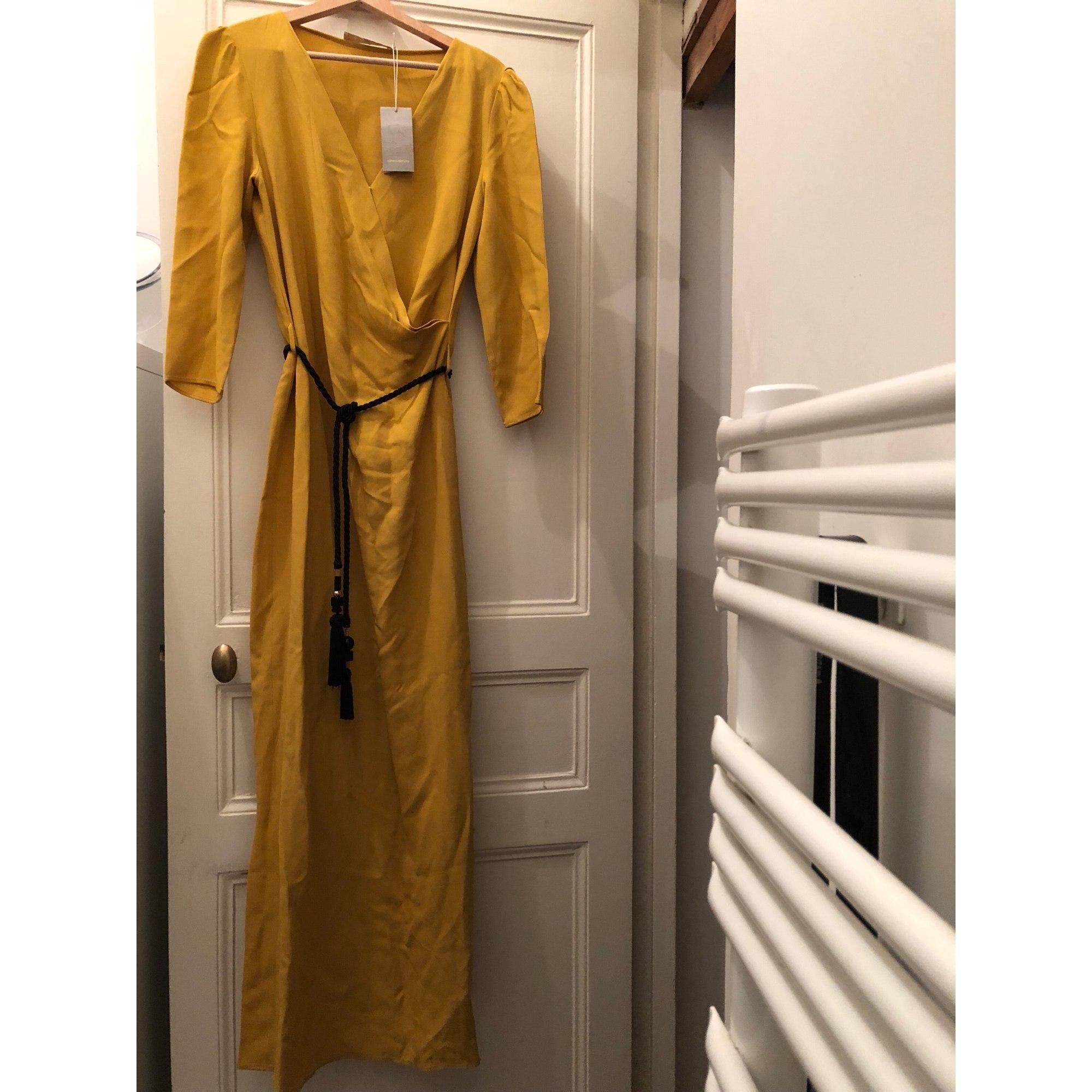 Robe Longue Vanessa Bruno 38 M T2 Jaune Moutarde 8481207
