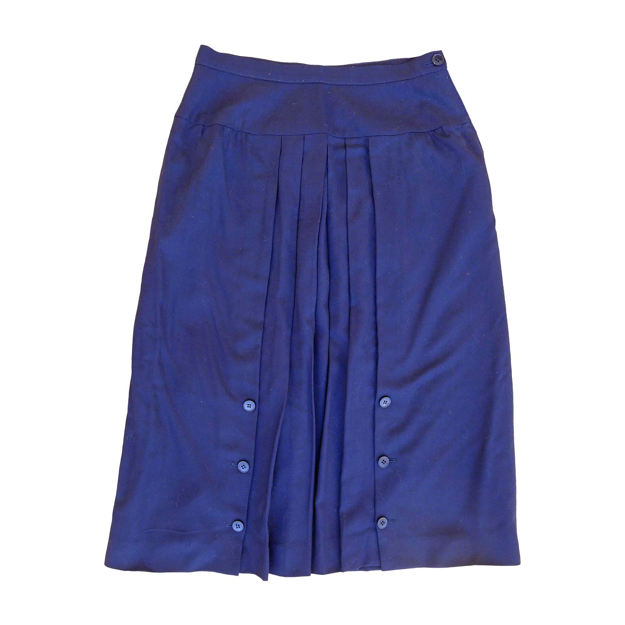 Jupe mi-longue VALENTINO Bleu, bleu marine, bleu turquoise
