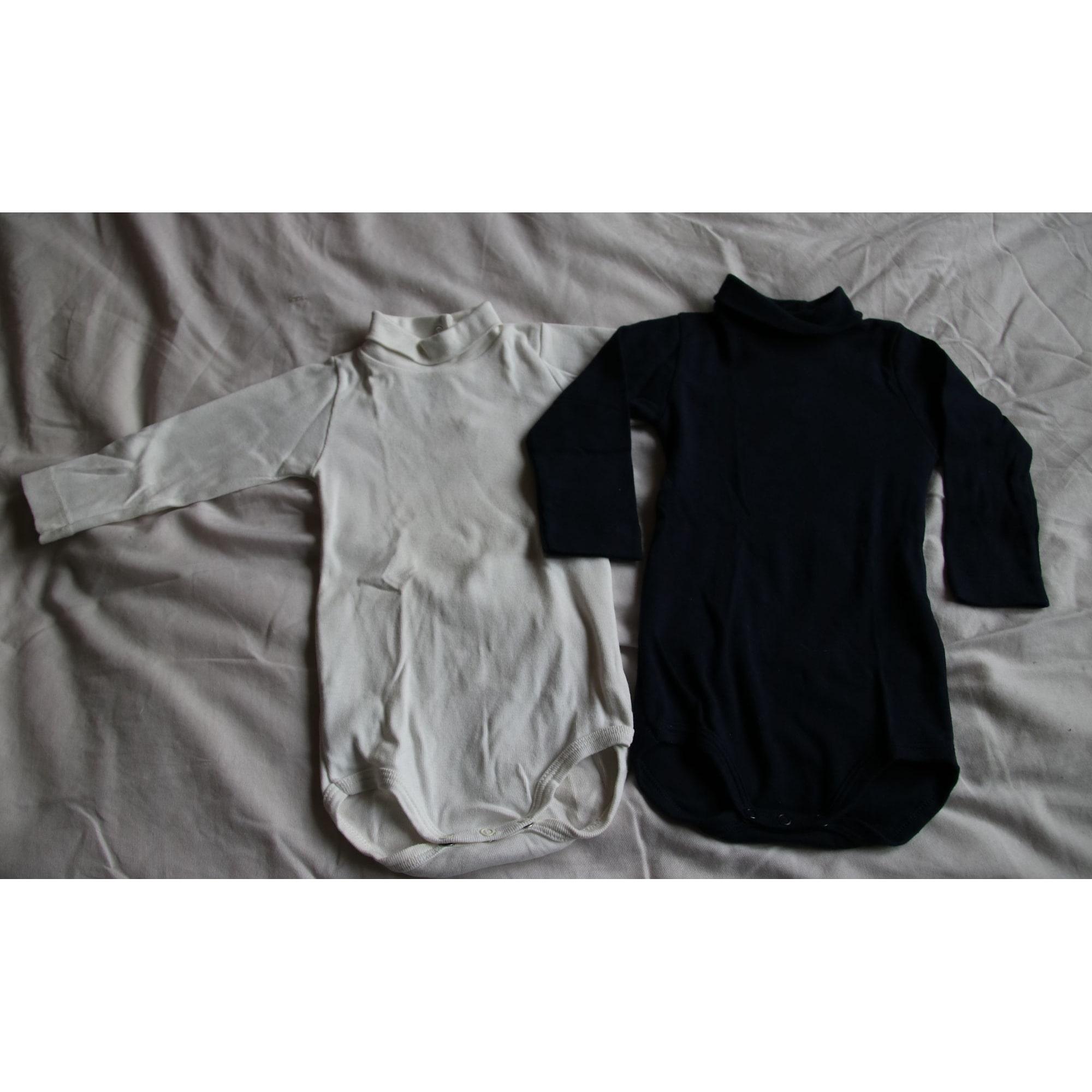 Body PETIT BATEAU Blanc et bleu marine