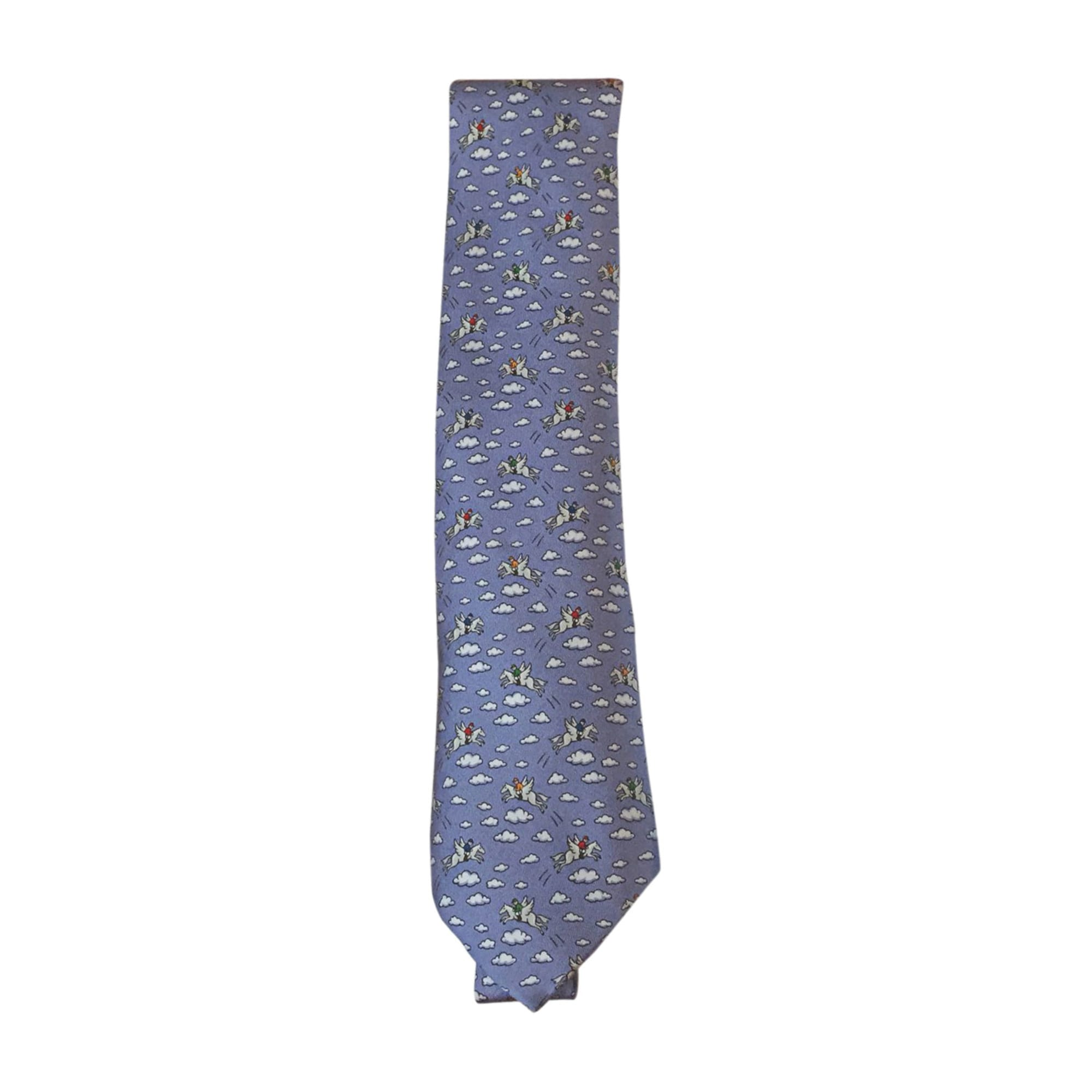 Tie HERMÈS Blue, navy, turquoise