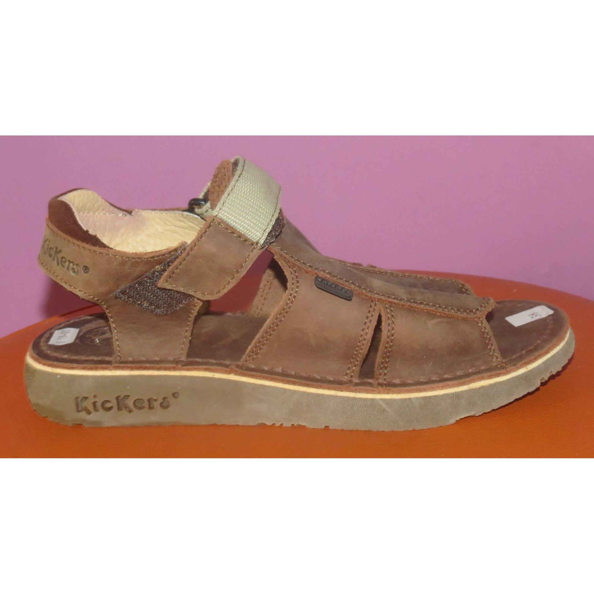Sandals KICKERS Brown