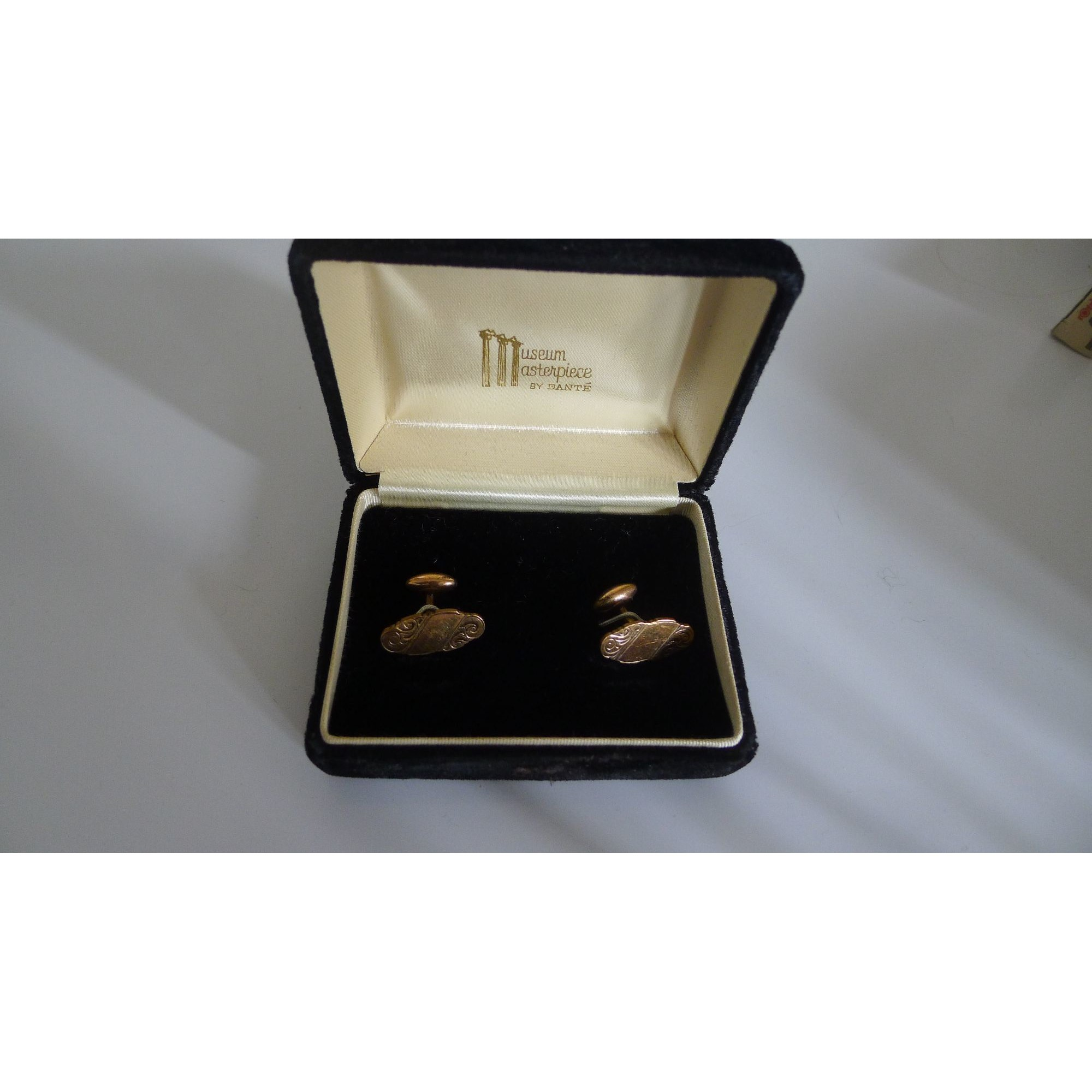 Cufflinks MUSEUM MASTERPIECE BY DANTÉ Golden, bronze, copper
