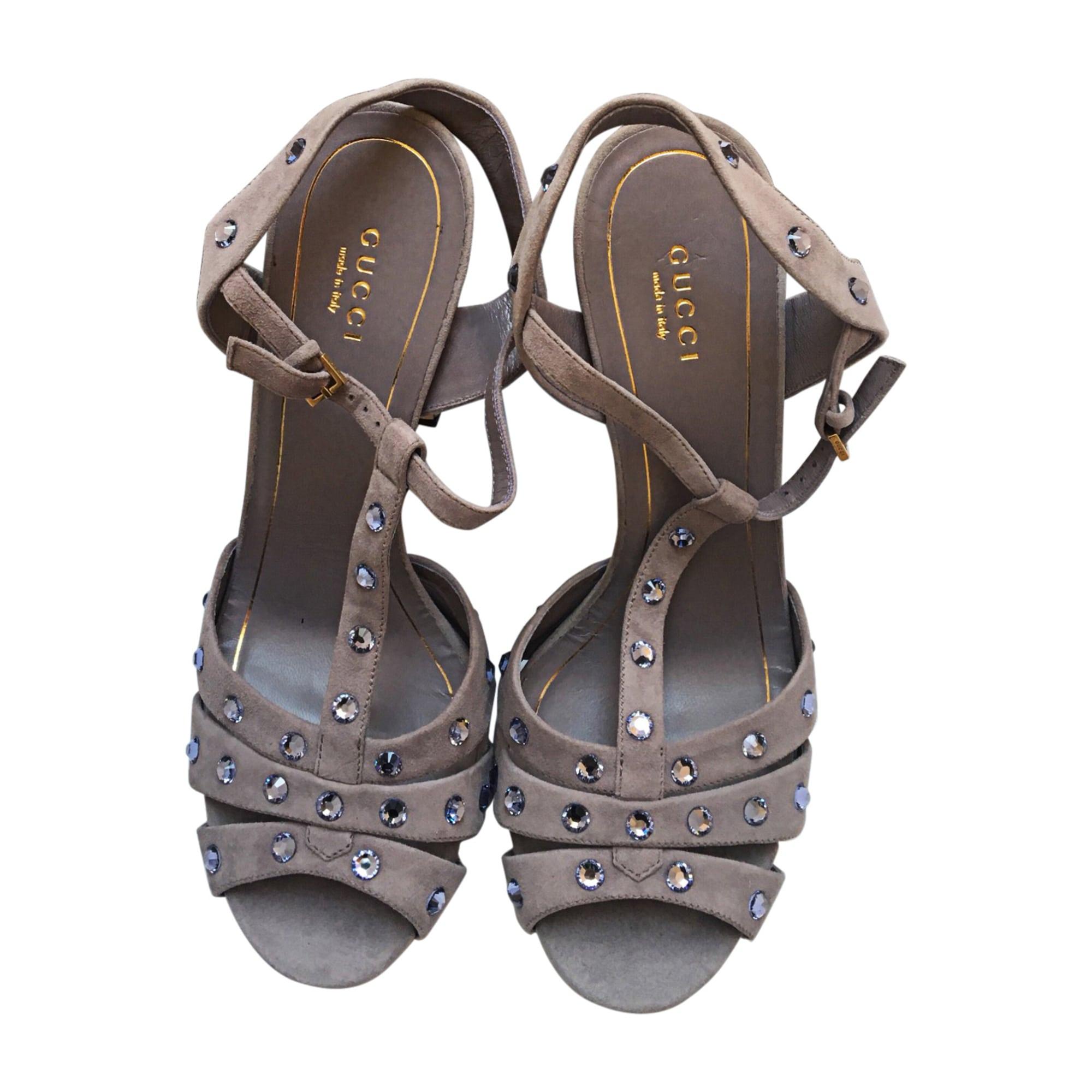 Sandales à talons GUCCI Violet, mauve, lavande