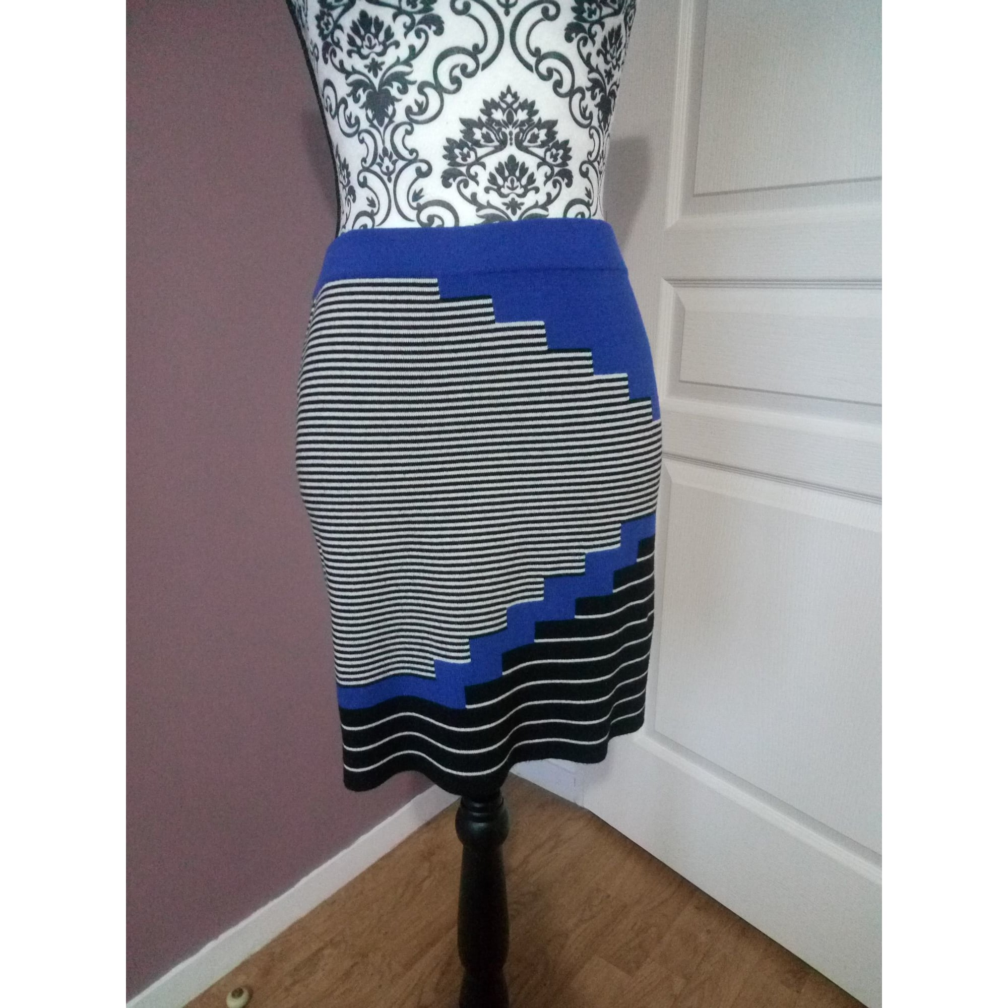 Jupe courte PROMOD Bleu, bleu marine, bleu turquoise