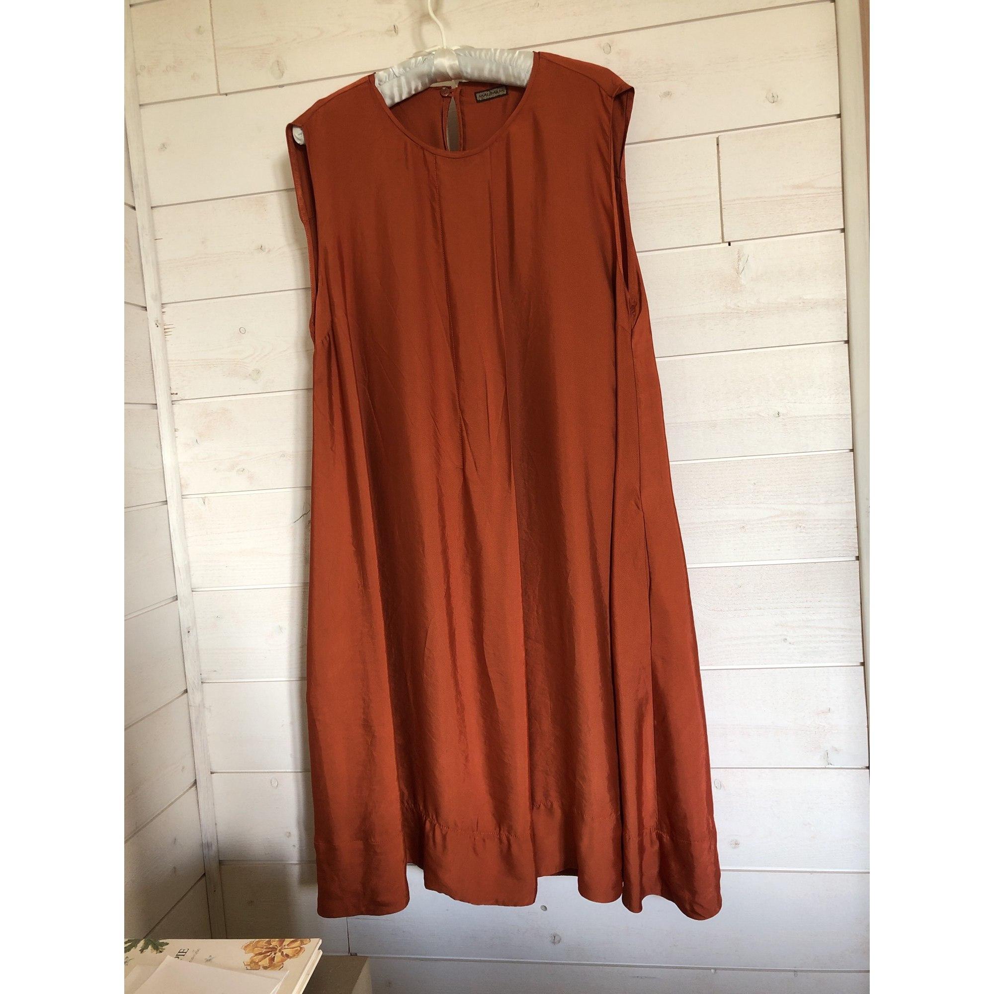 Robe mi-longue MALIPARMI Doré, bronze, cuivre