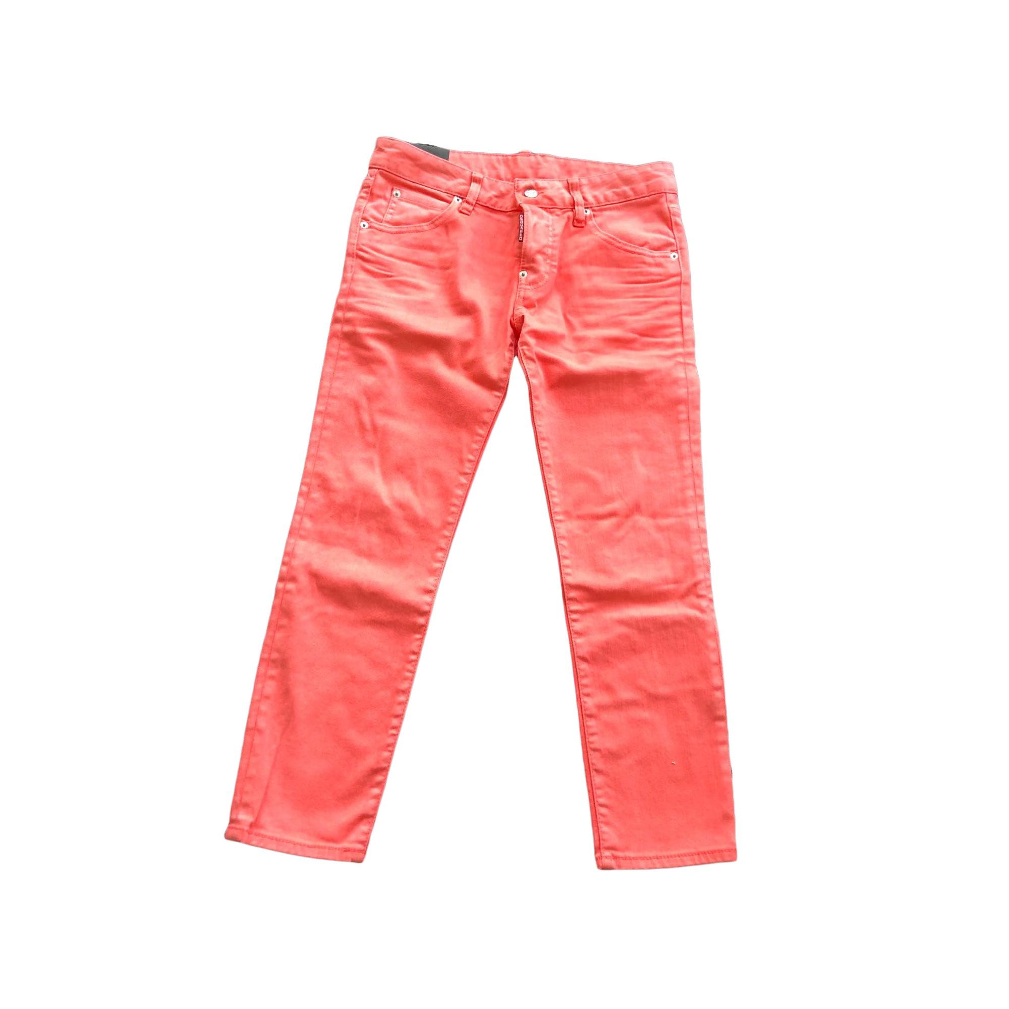 Jeans droit DSQUARED2 Orange