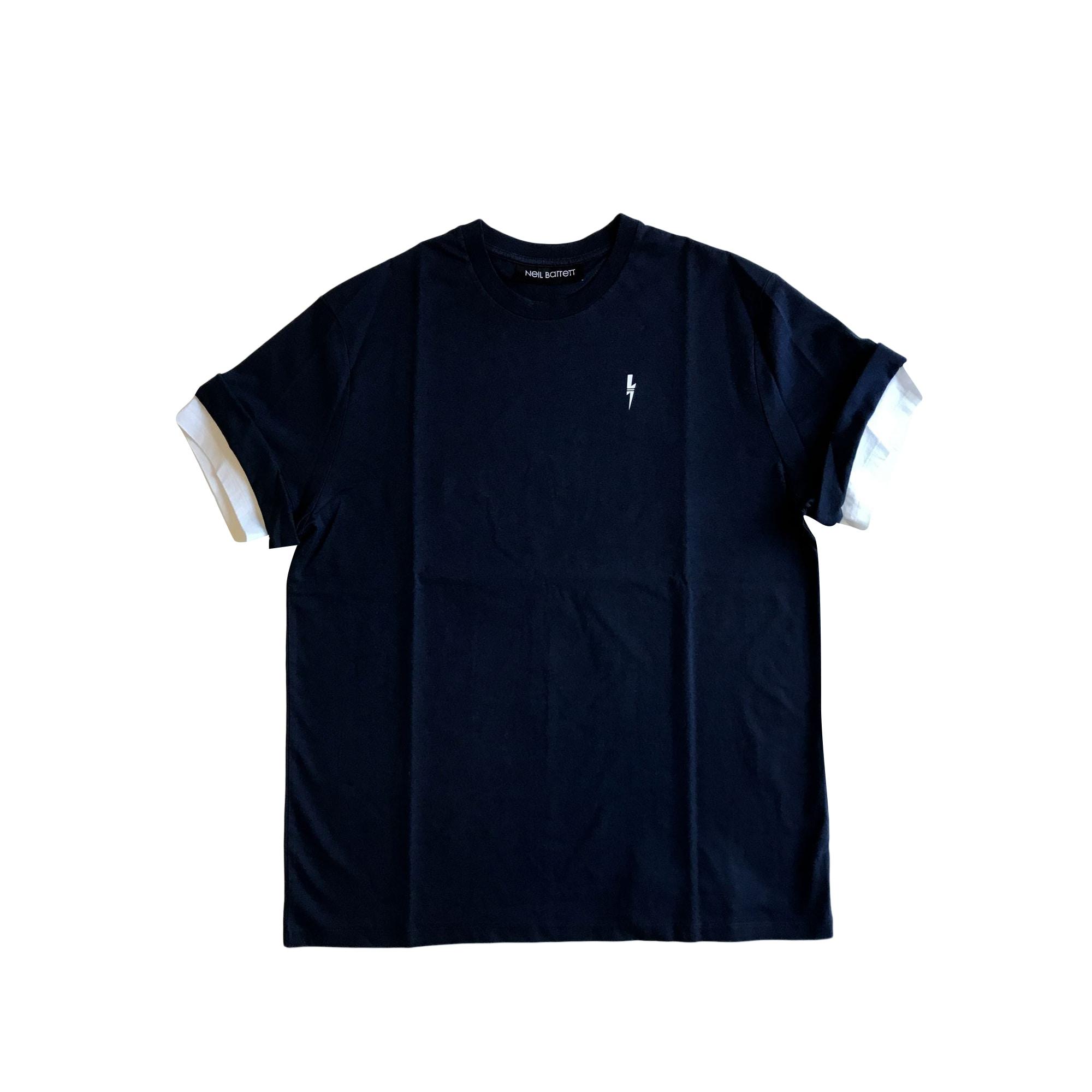Tee-shirt NEIL BARRETT Bleu, bleu marine, bleu turquoise
