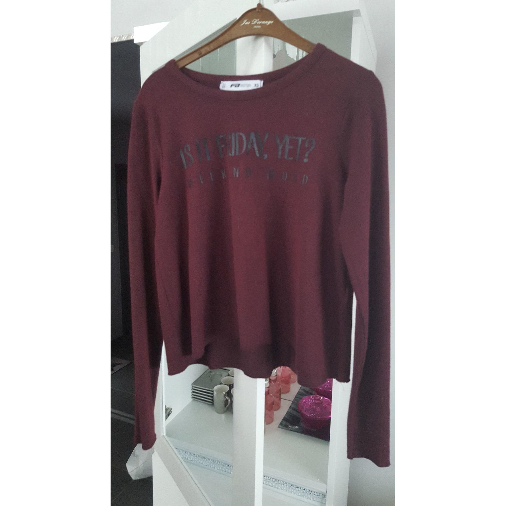 Top, tee-shirt FB SISTER Rouge, bordeaux