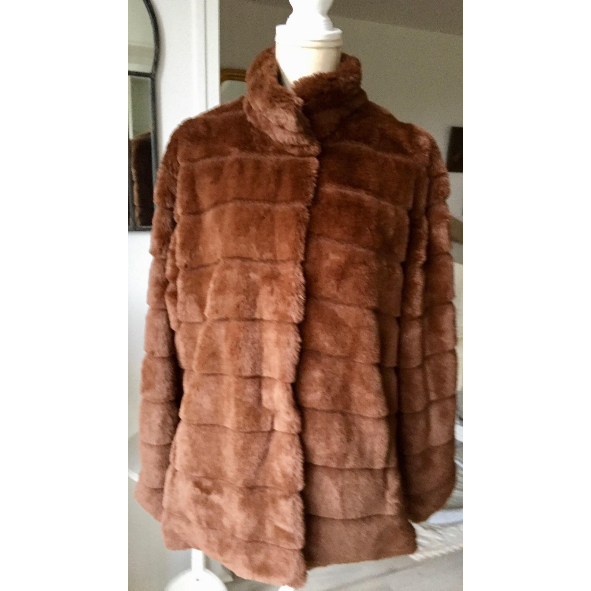 Manteau en fourrure MISSLOK Marron