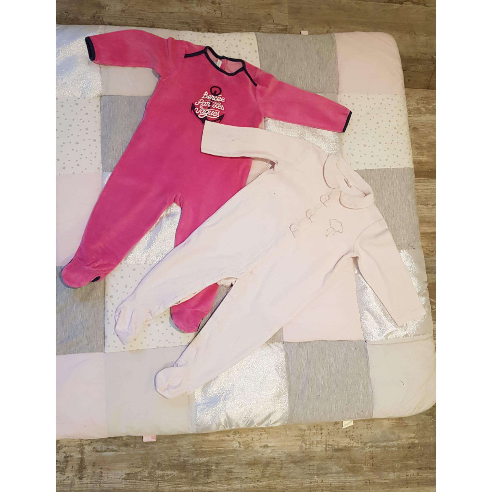 Pyjama ABSORBA Rose, fuschia, vieux rose